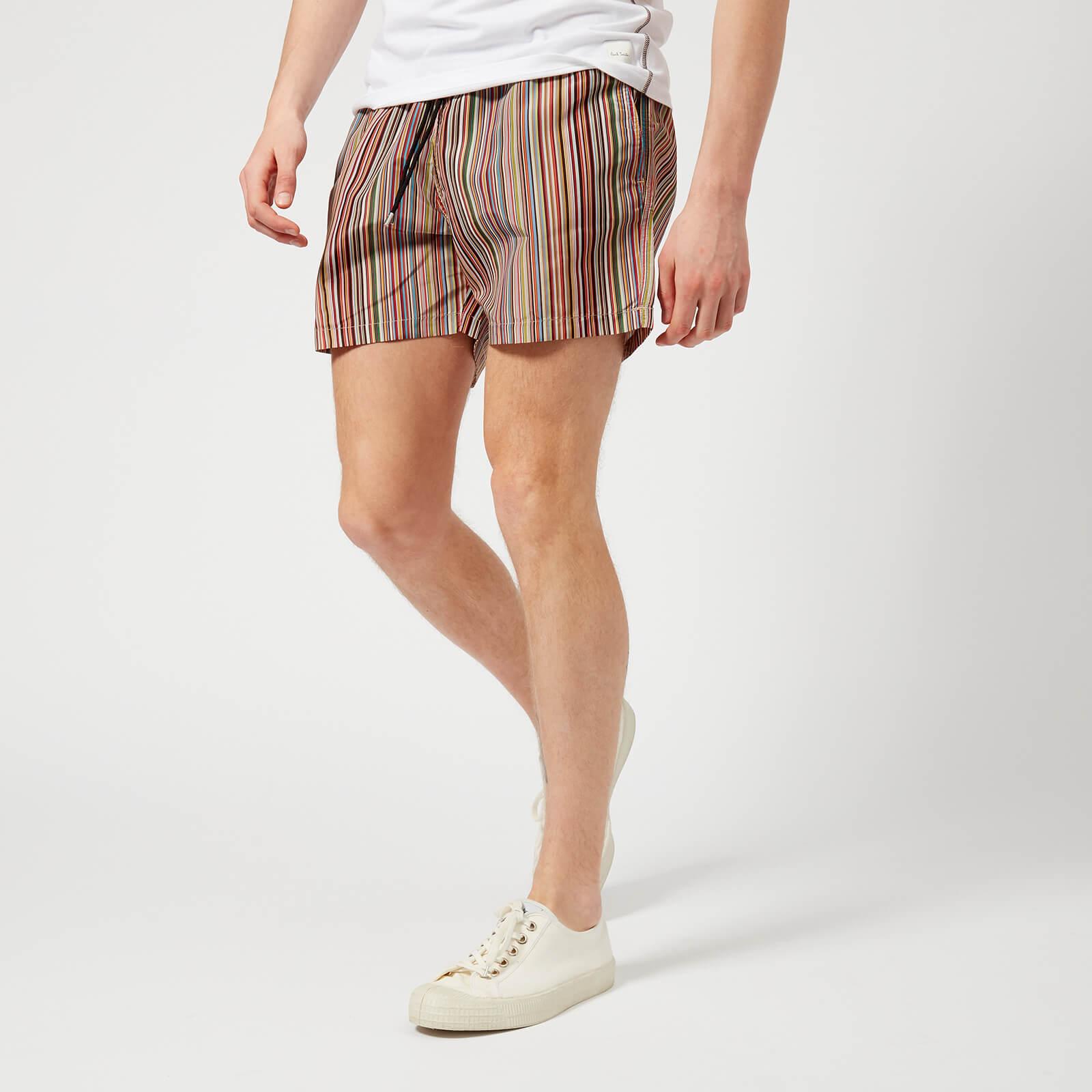 f921aa9968 Paul Smith Accessories Men's Classic Stripe Swim Shorts - Multi - Free UK  Delivery over £50