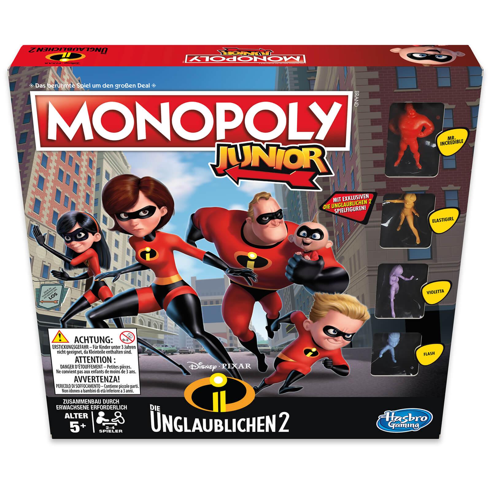 Hasbro Gaming The Incredibles Monopoly Junior My Geek Box