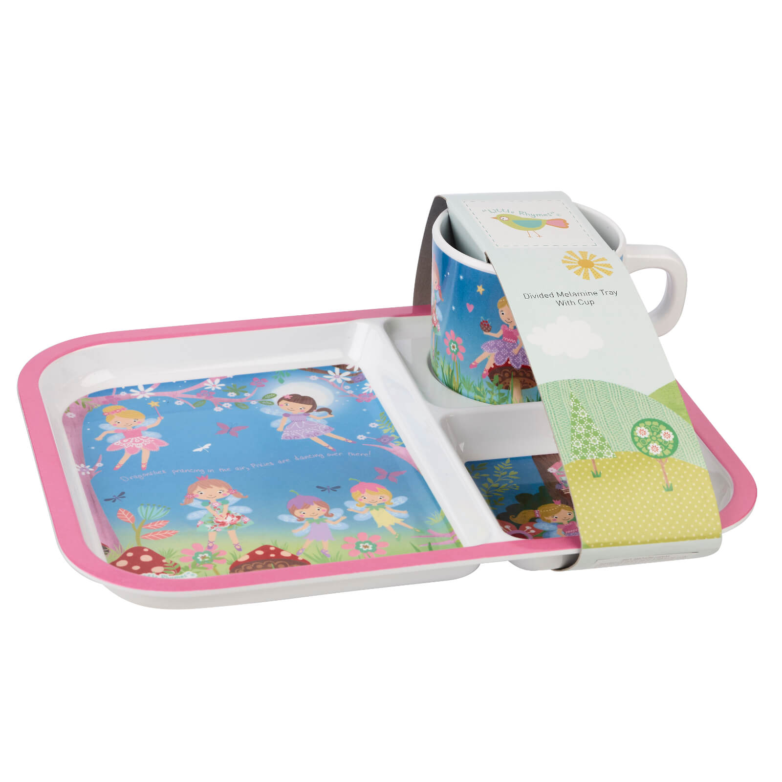 Little Rhymes Fairies Rectangular Tray and Cup
