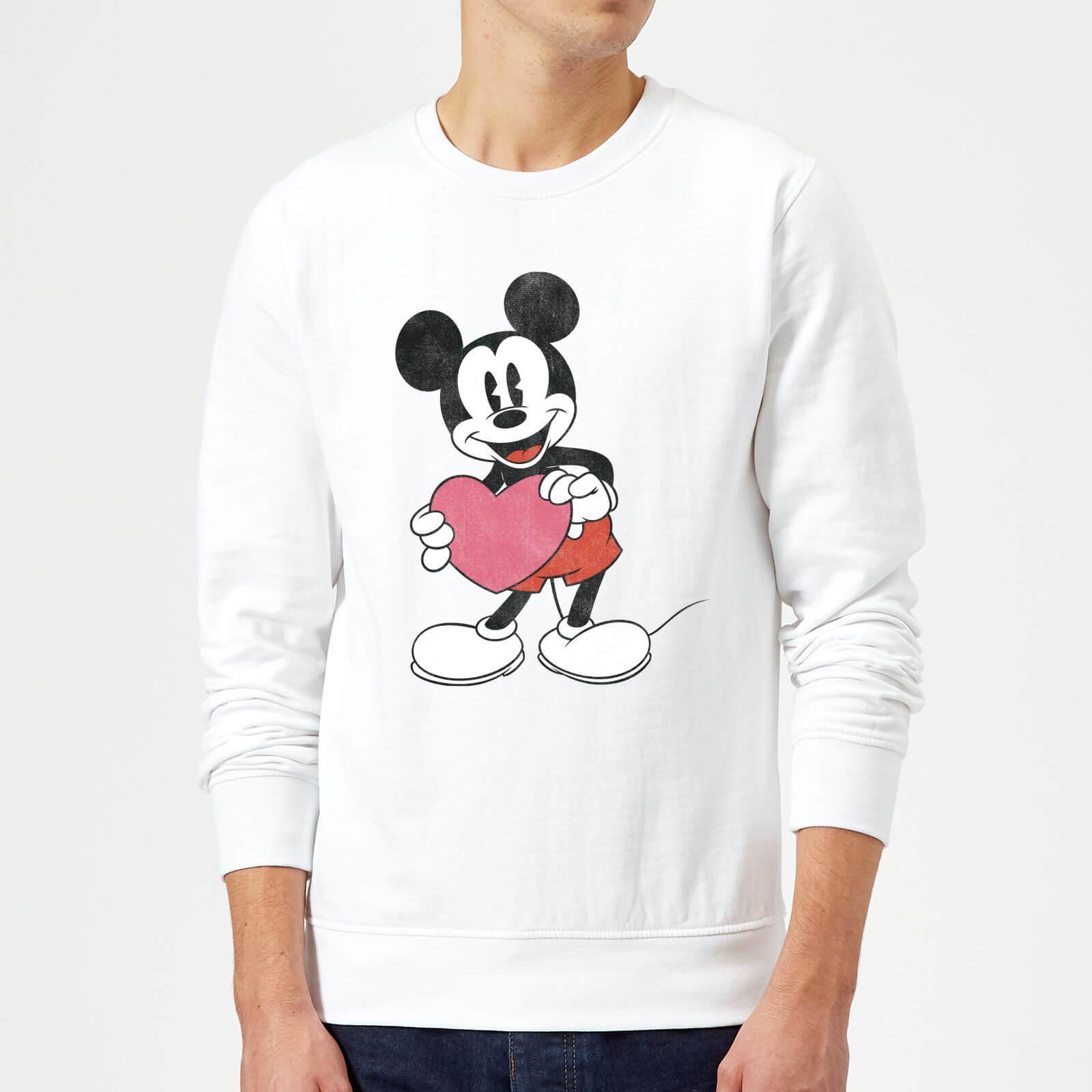 Disney Mouse Corazón Regalo Mickey Hombre Sudadera Blanco SMVzqUp