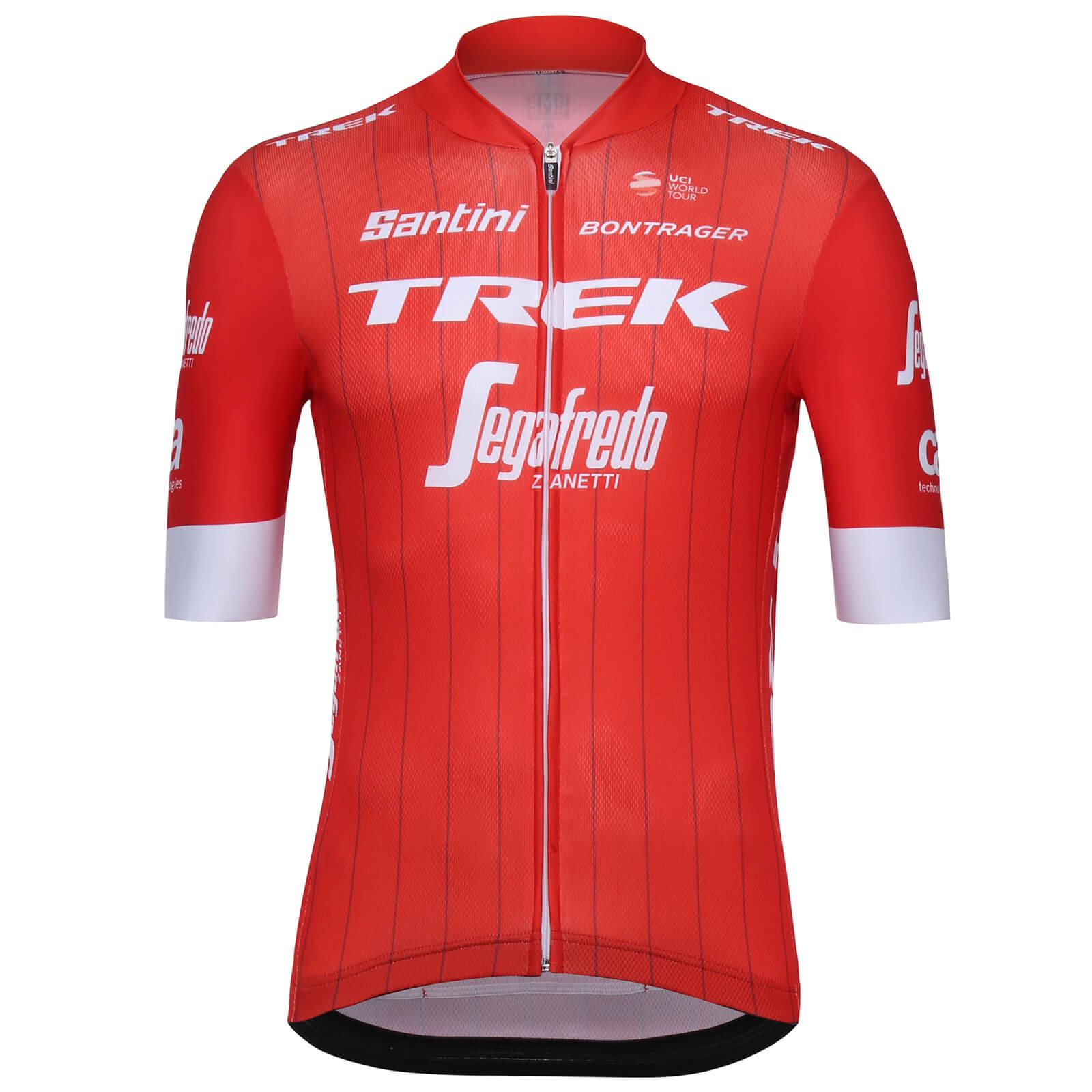 Santini Trek-Segafredo 18 Sleek Pro Team Jersey - Red  494430f00