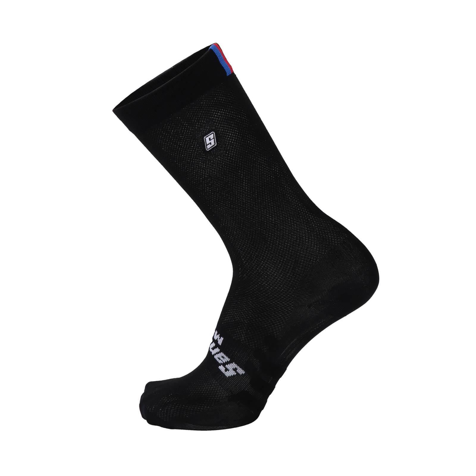 Santini UCI Rainbow Tech Socks - Black  7cde4a498
