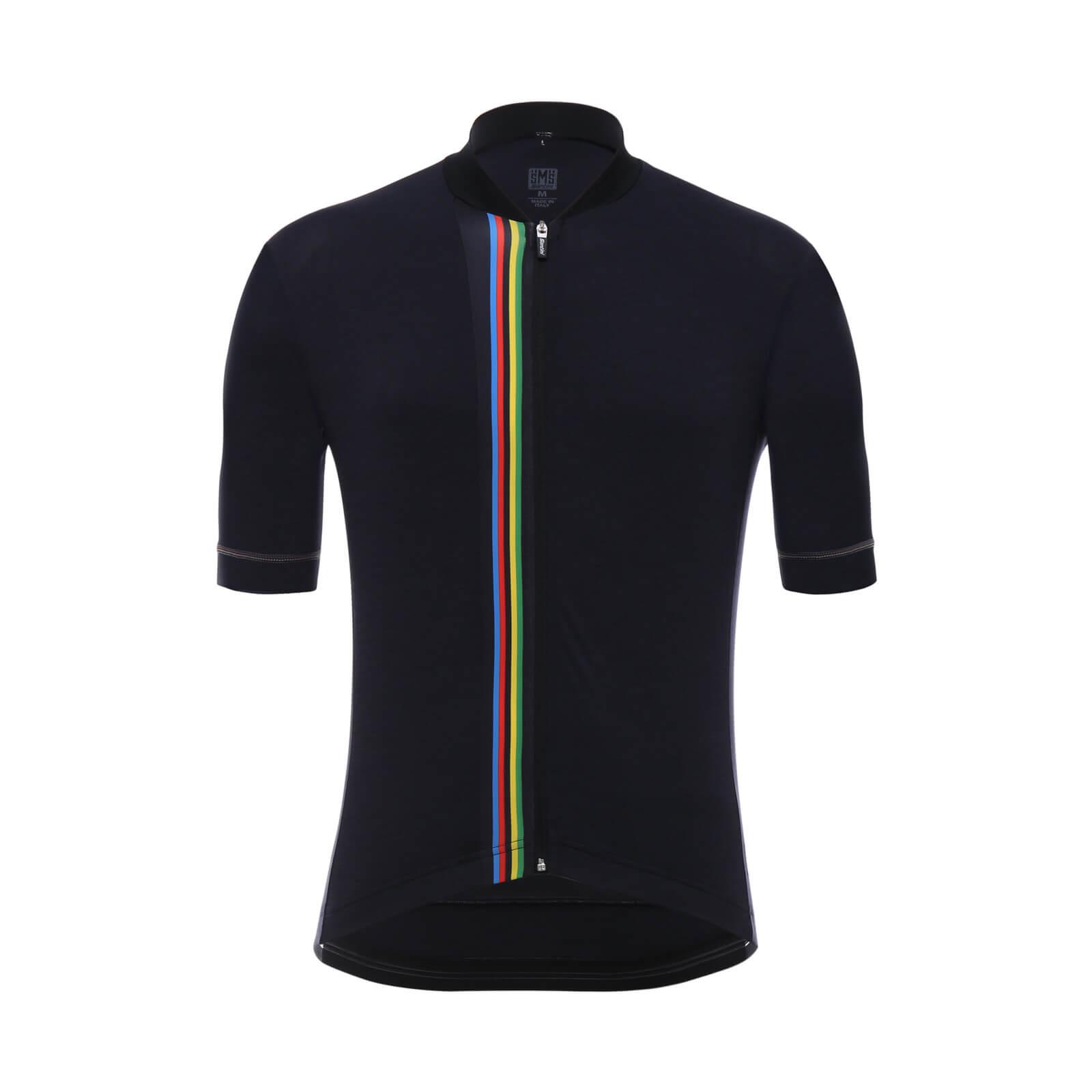 Santini UCI Rainbow Jersey - Black  cb14d148d