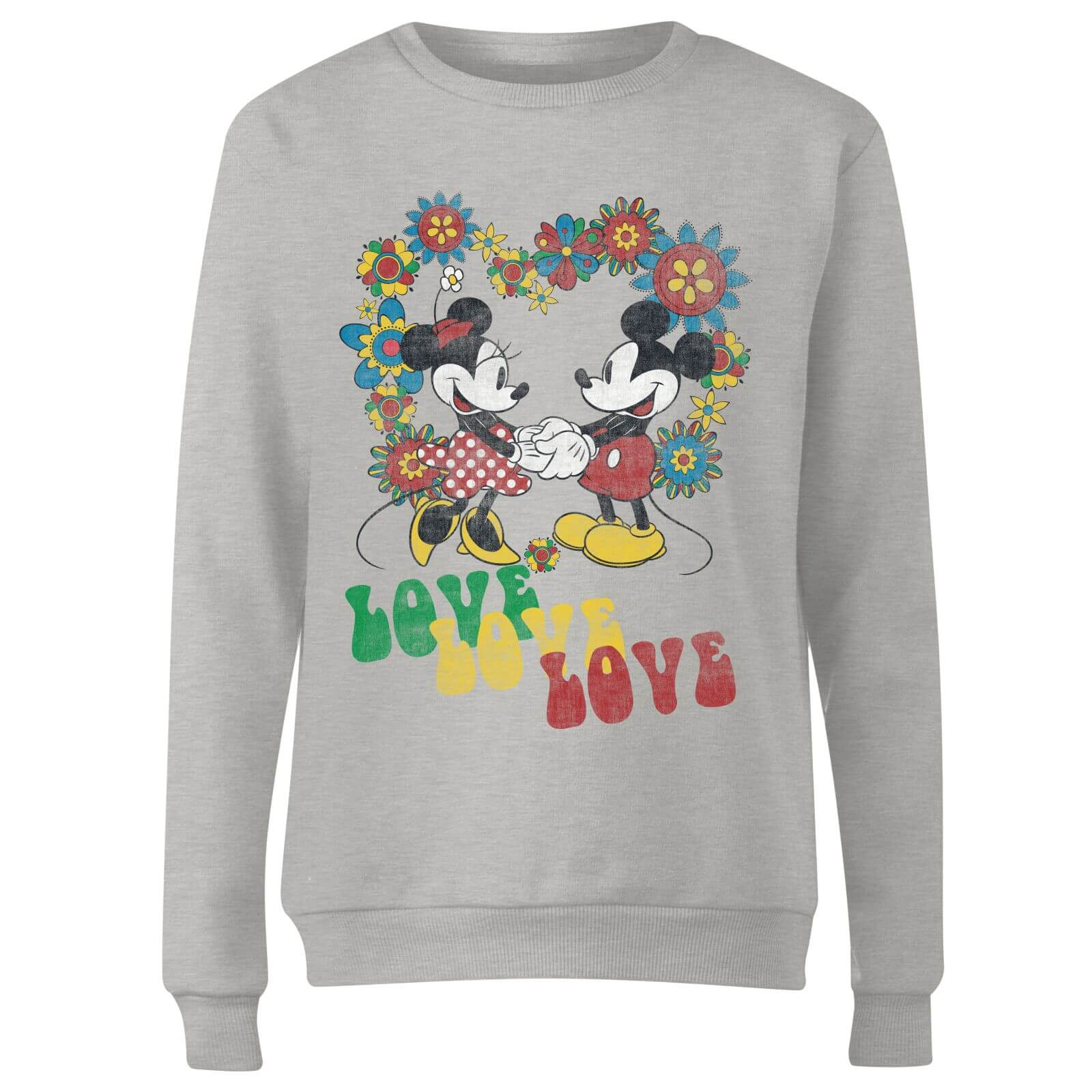 Disney Mickey Mouse Hippie Love Women