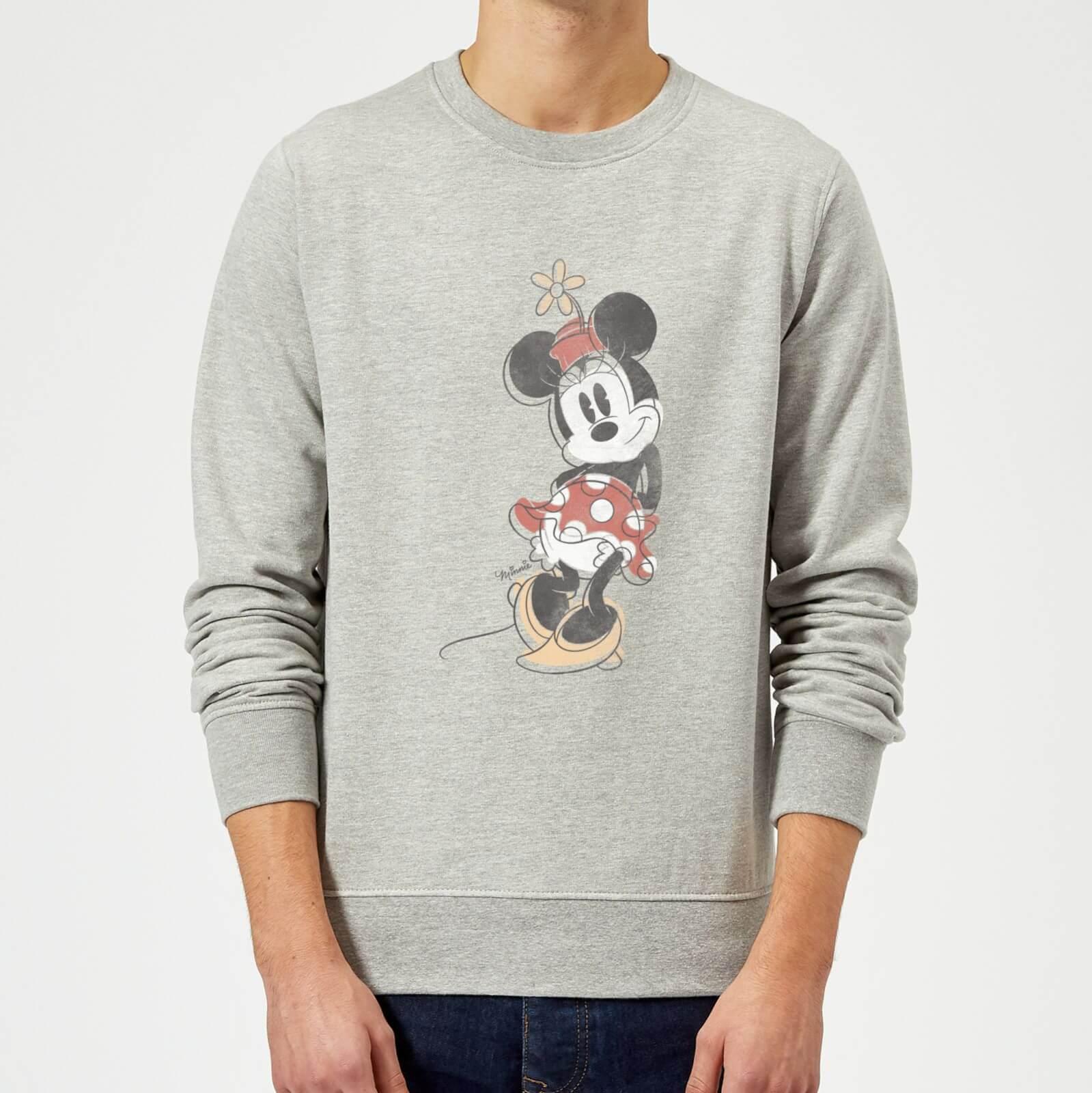 5277cf5851 Disney Mickey Mouse Minnie Mouse Offset Sweatshirt - Grey