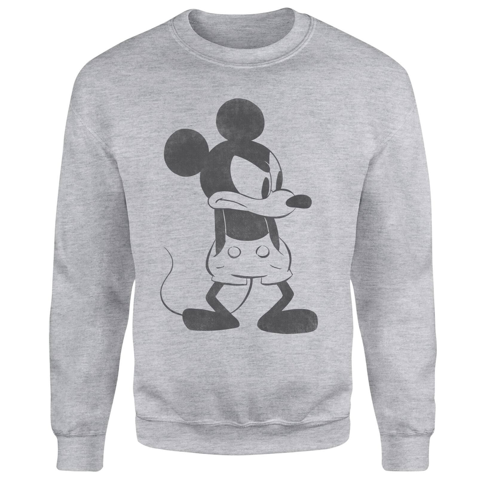 Disney Mickey Mouse Angry Sweatshirt - Grey