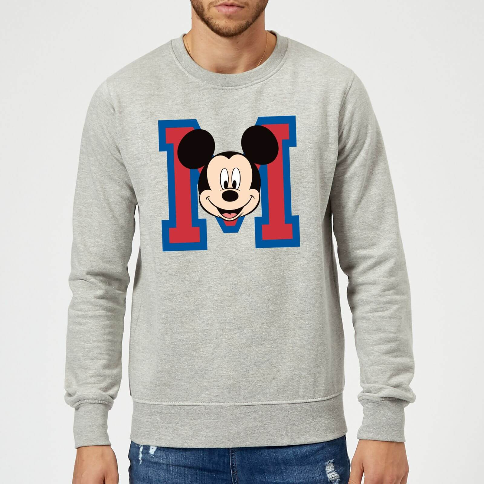 Cara Gris M Sudadera Mouse Disney Hombre Mickey Yf6ybg7