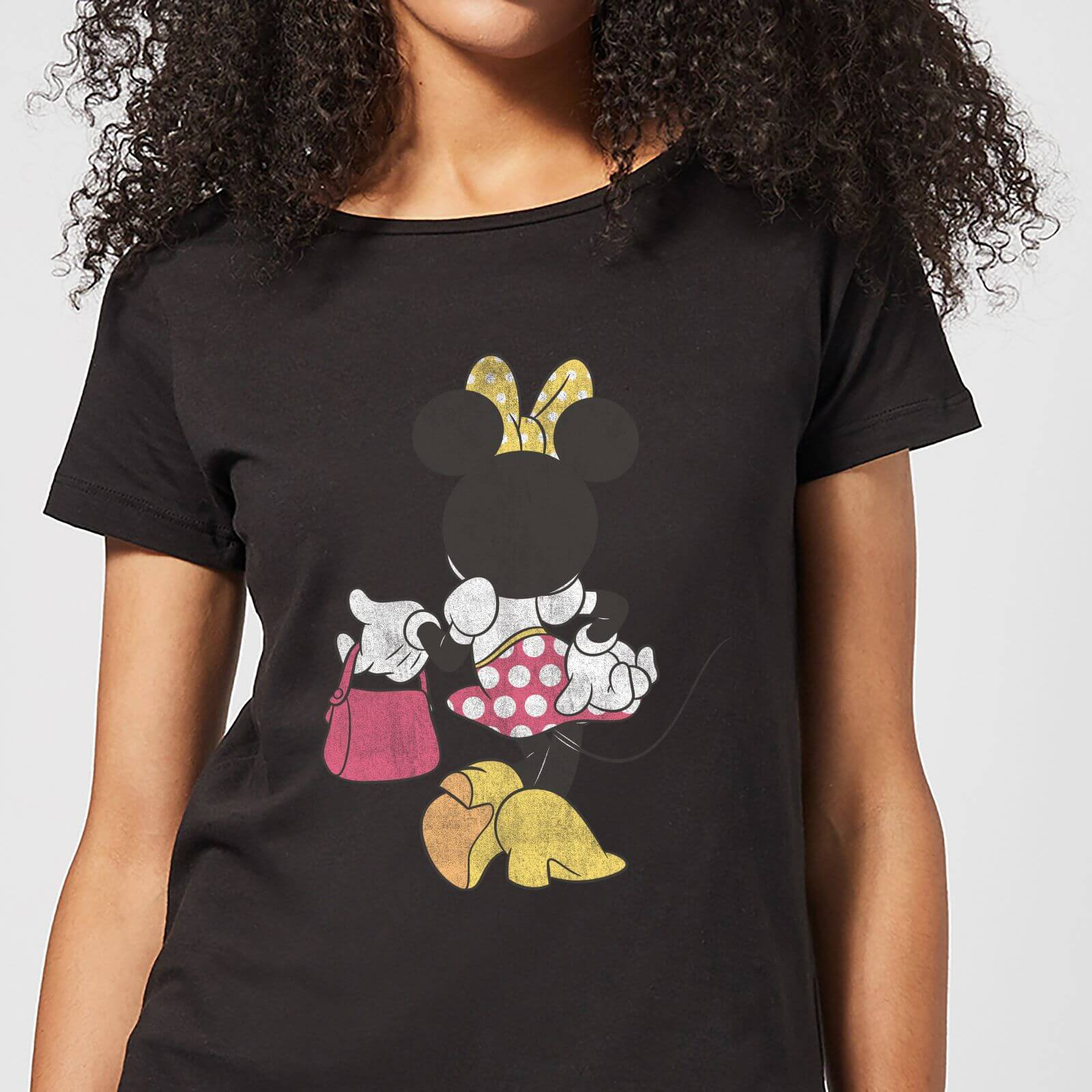 7c55939e99 Disney Mickey Mouse Minnie Mouse Back Pose Frauen T-Shirt - Schwarz | SOWIA