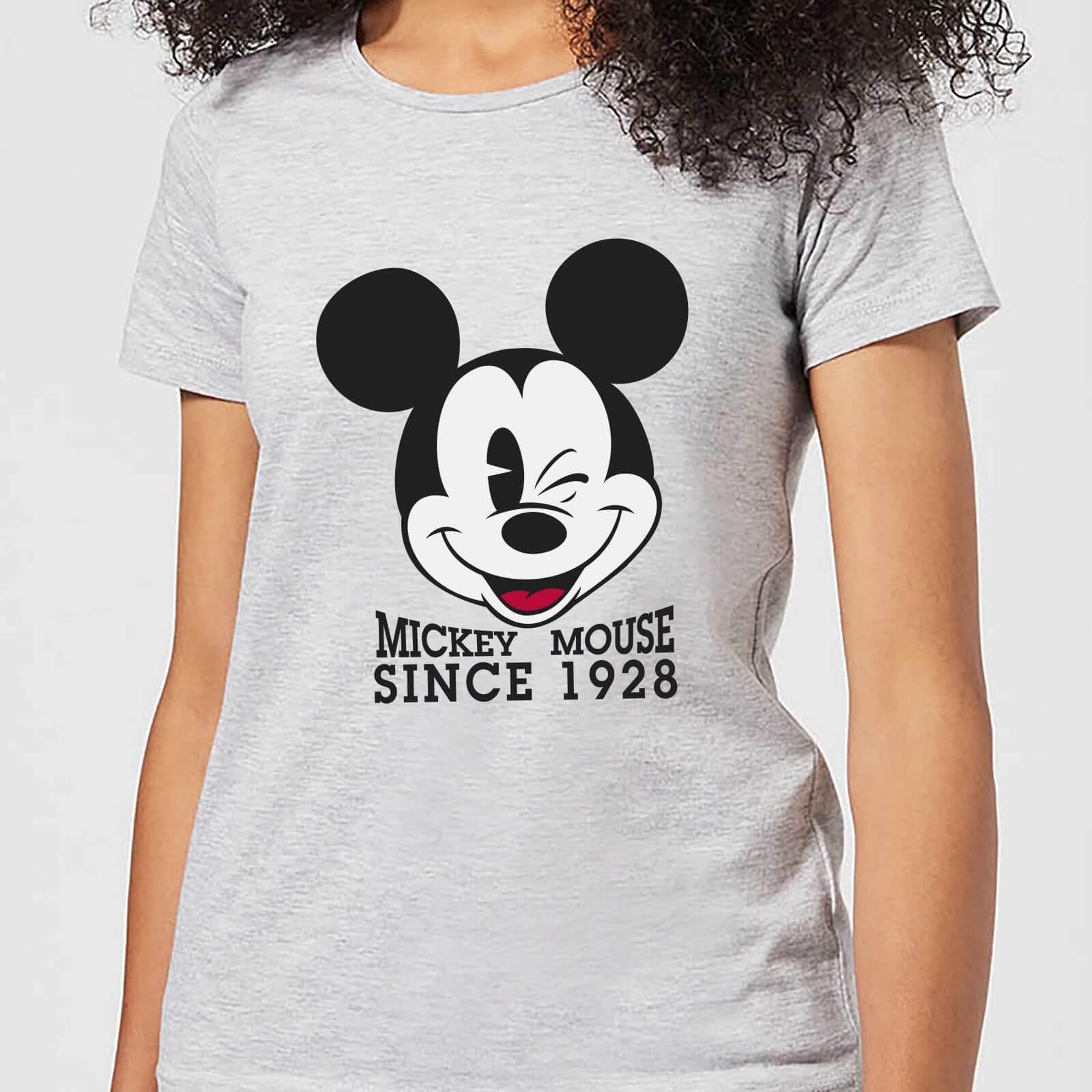 Disney Mickey Mouse Since 1928 Frauen T Shirt Grau