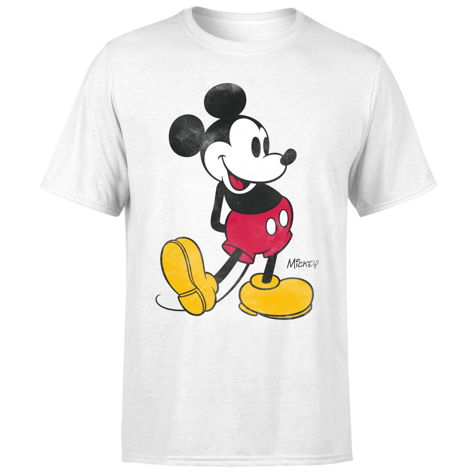 Disney Mickey Mouse Classic Kick T-Shirt - White