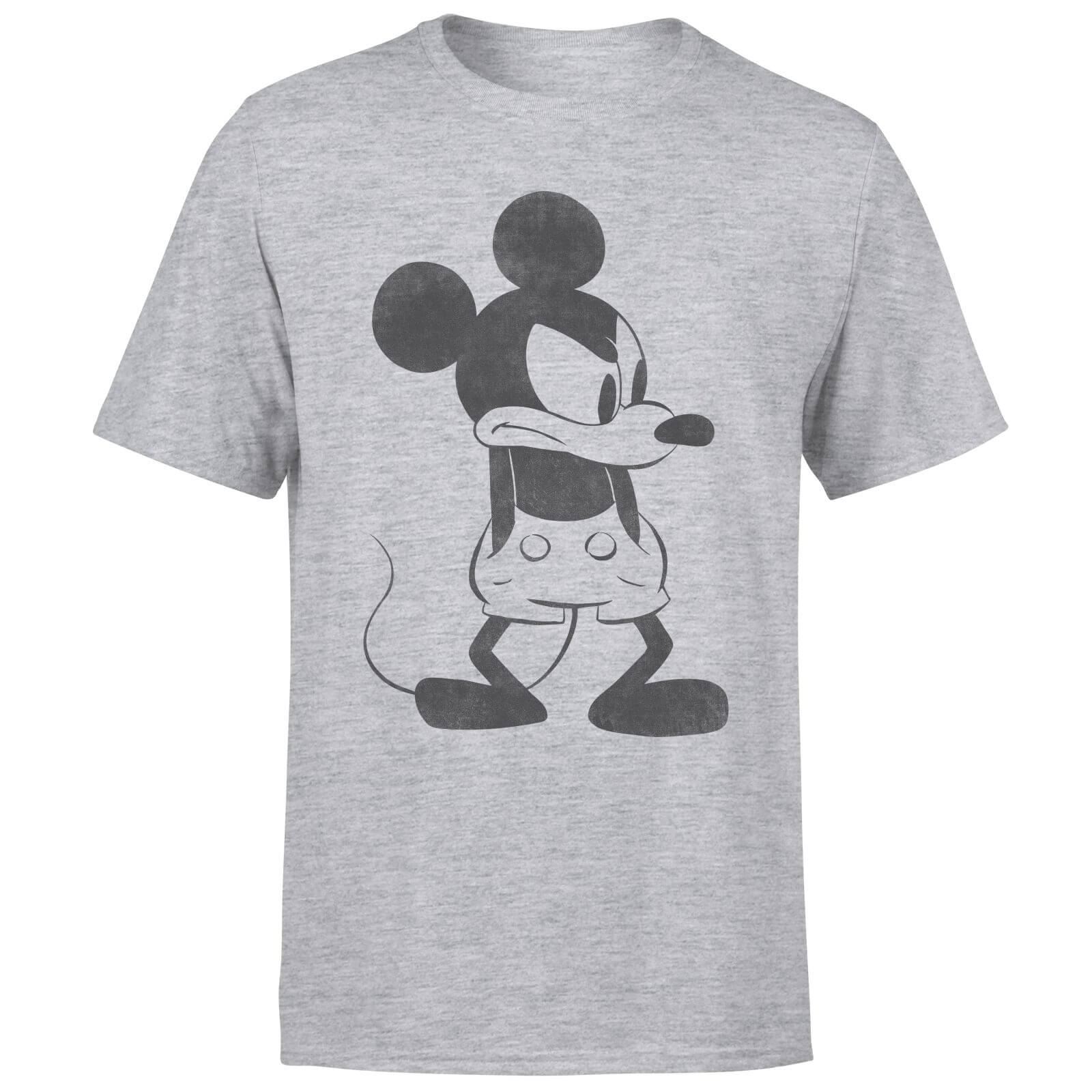 Disney Mickey Mouse Angry T-Shirt - Grey
