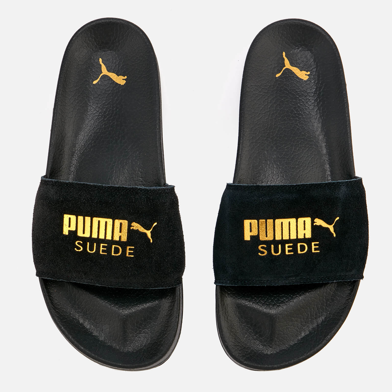 quality design 41826 a0e6e Puma Leadcat Suede Slide Sandals - Puma Black/Puma Team Gold