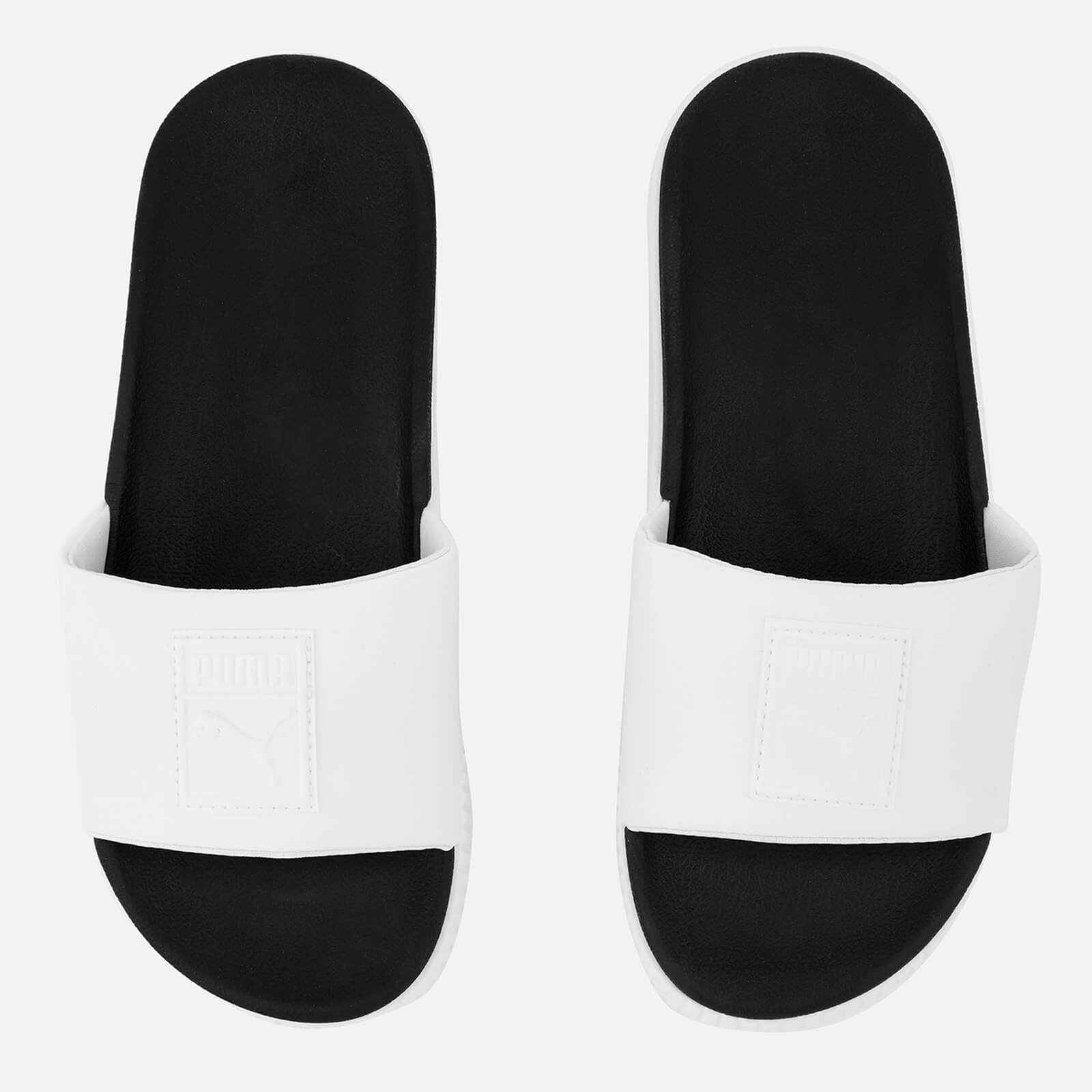 9bb55ed09 Puma Women s Platform Slide Sandals - White Black Womens Footwear ...