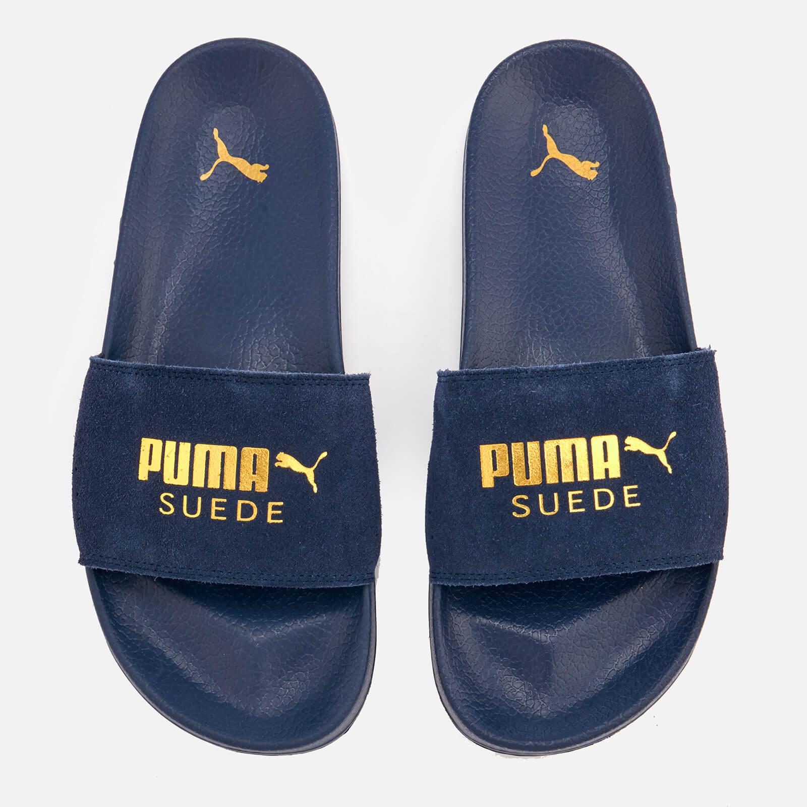 bb29e059b298 Puma Men s Leadcat Suede Slide Sandals - Peacoat Puma Team Gold - Free UK  Delivery over £50