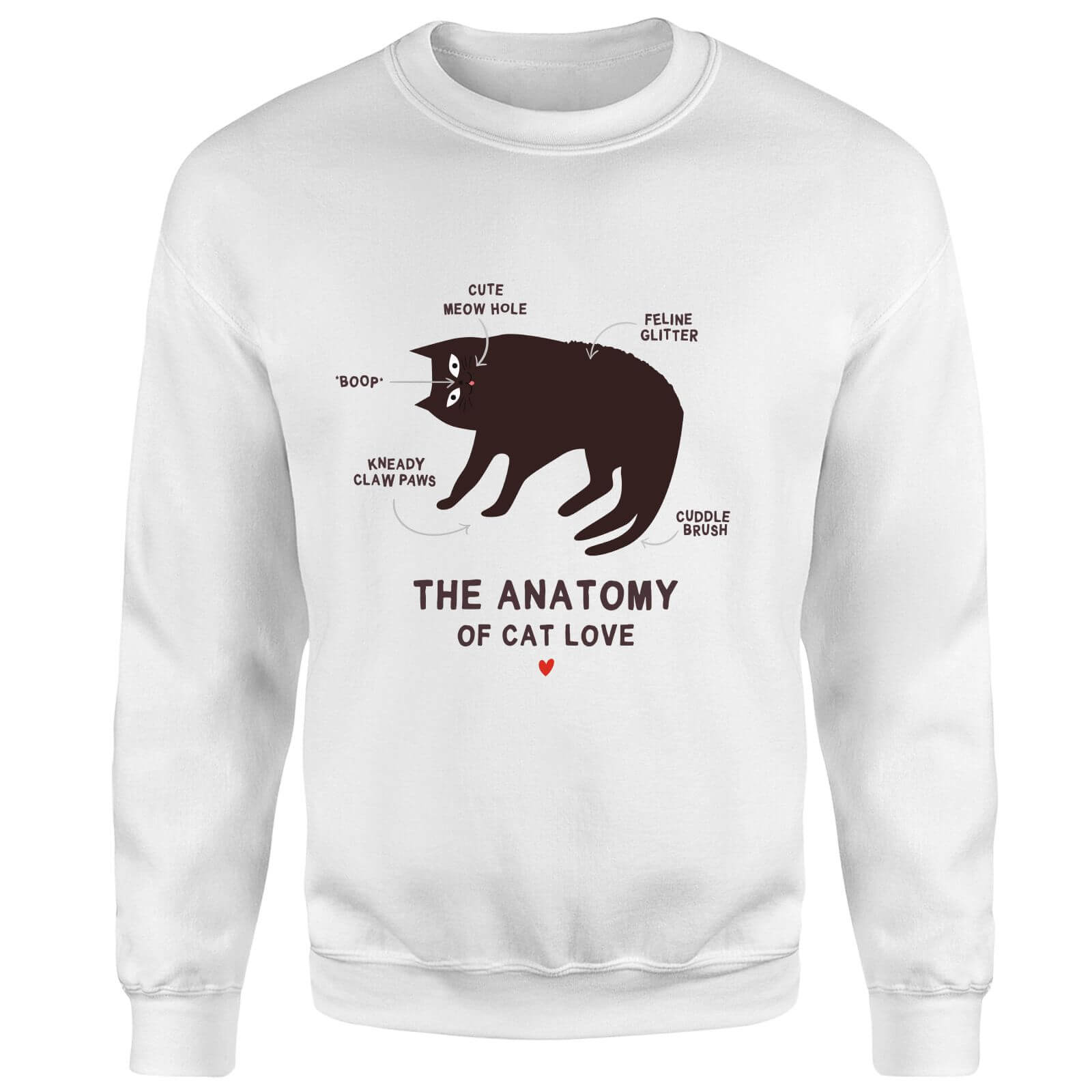 The Anatomy Of Cat Love Sweatshirt - White