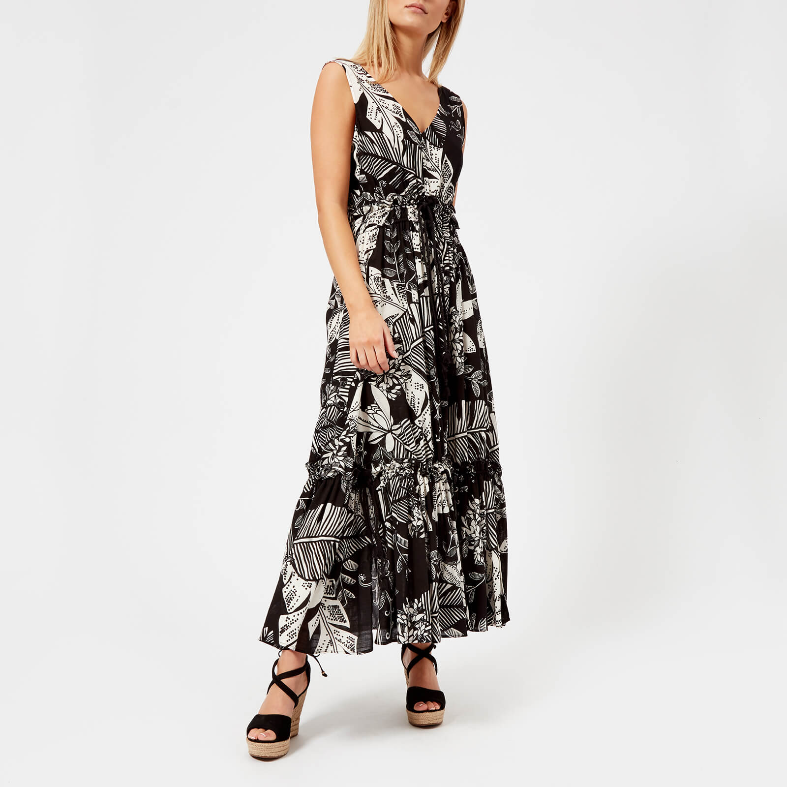 a7354cd167 See By Chloé Women's Palm Print Maxi Dress - Black/White