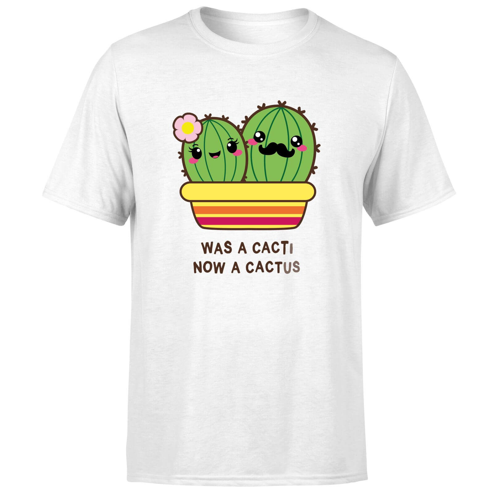 Was A Cacti, Now A Cactus T-Shirt - White