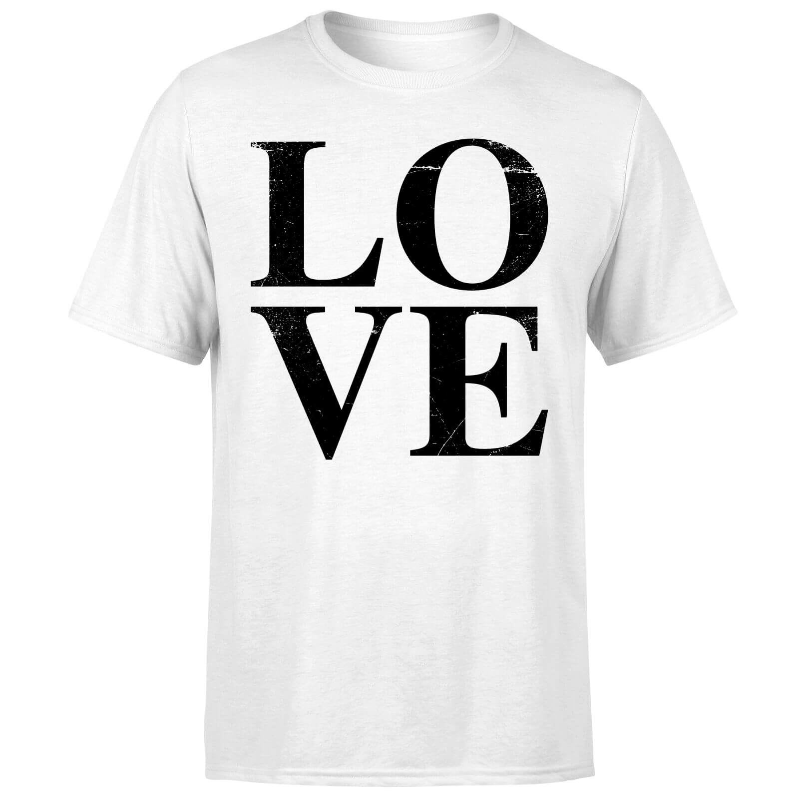 Love Textured T-Shirt - White