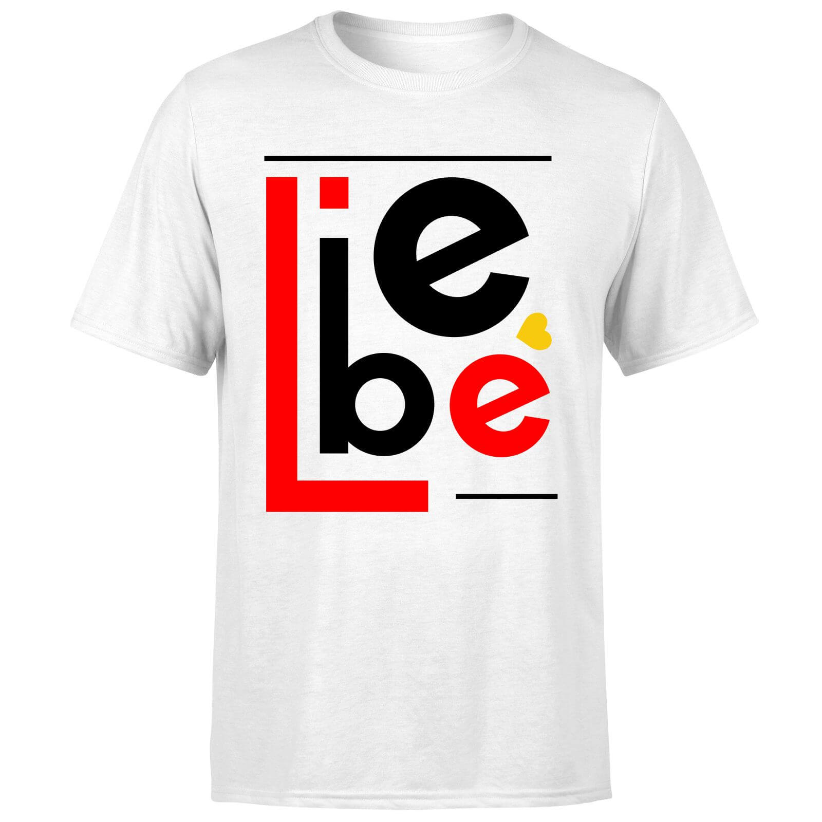 Liebe Block T-Shirt - White