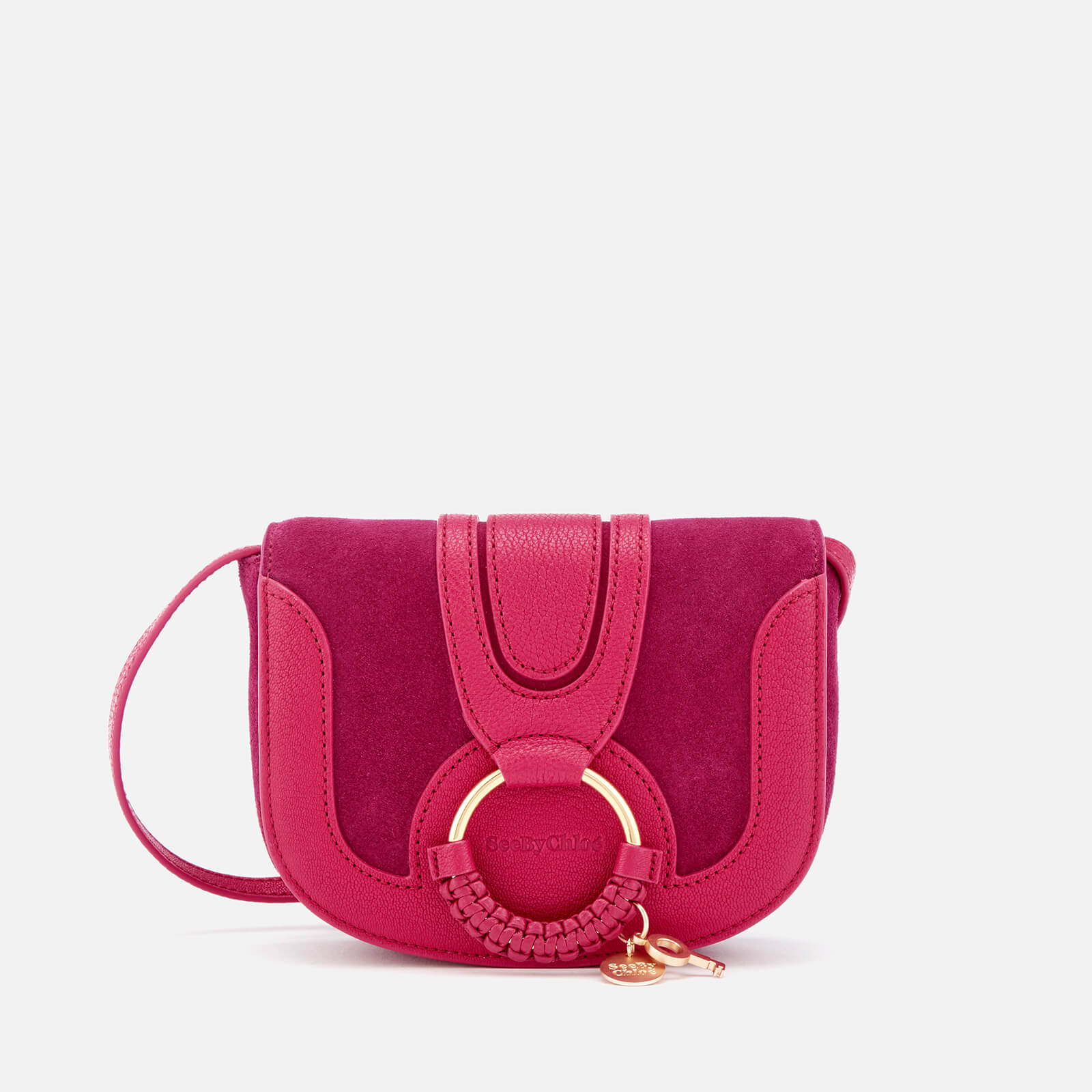 850b84e5e62e See By Chloé Women s Hana Small Cross Body Bag - Berry Pink - Free UK  Delivery over £50
