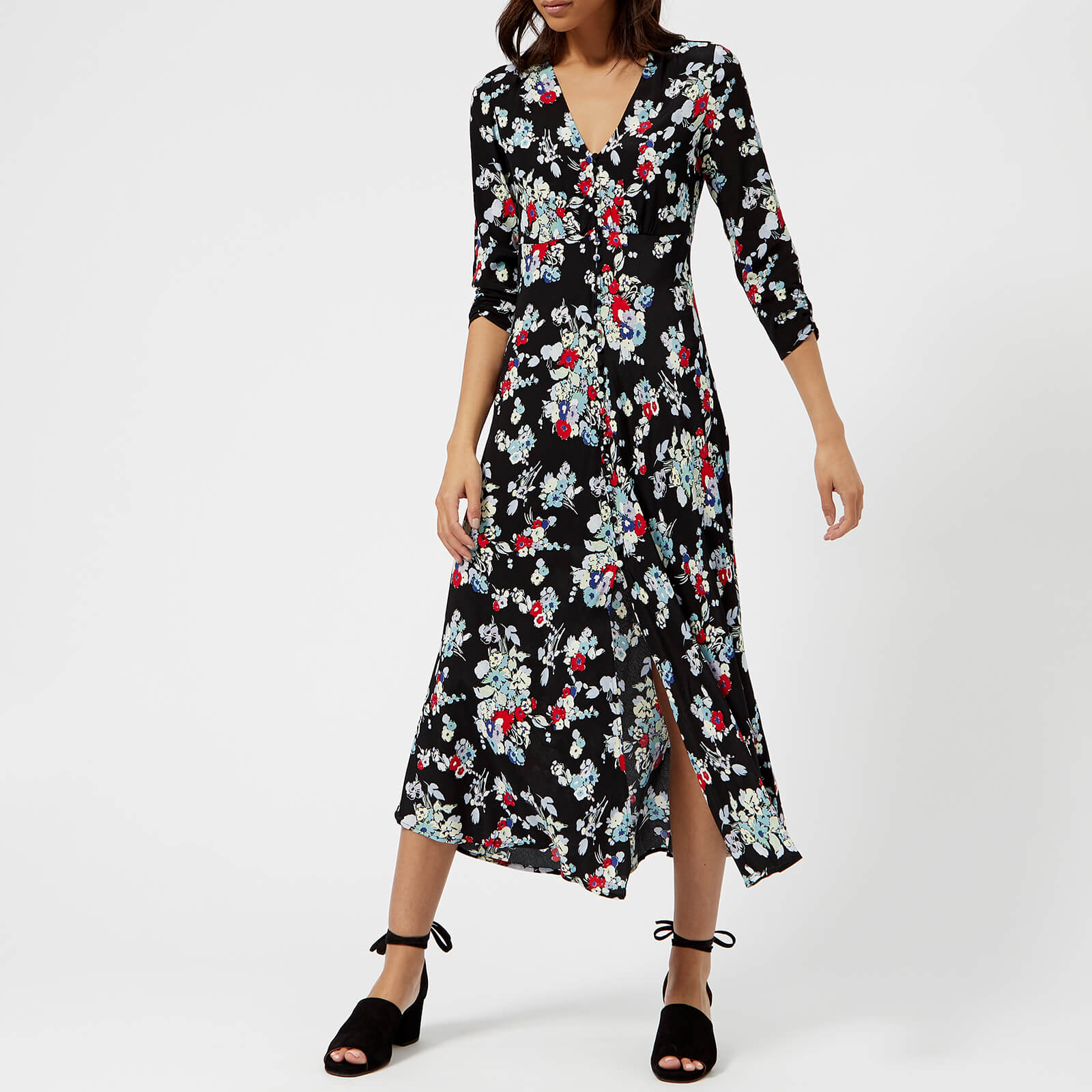 159101ed32545 RIXO Women's Katie Button Down Maxi Dress - Pastel 30S Bunch Floral
