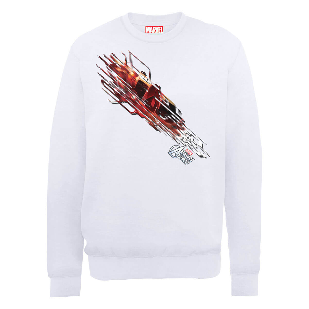 Marvel Avengers Assemble Iron Man Shooting Burst Sweatshirt - White