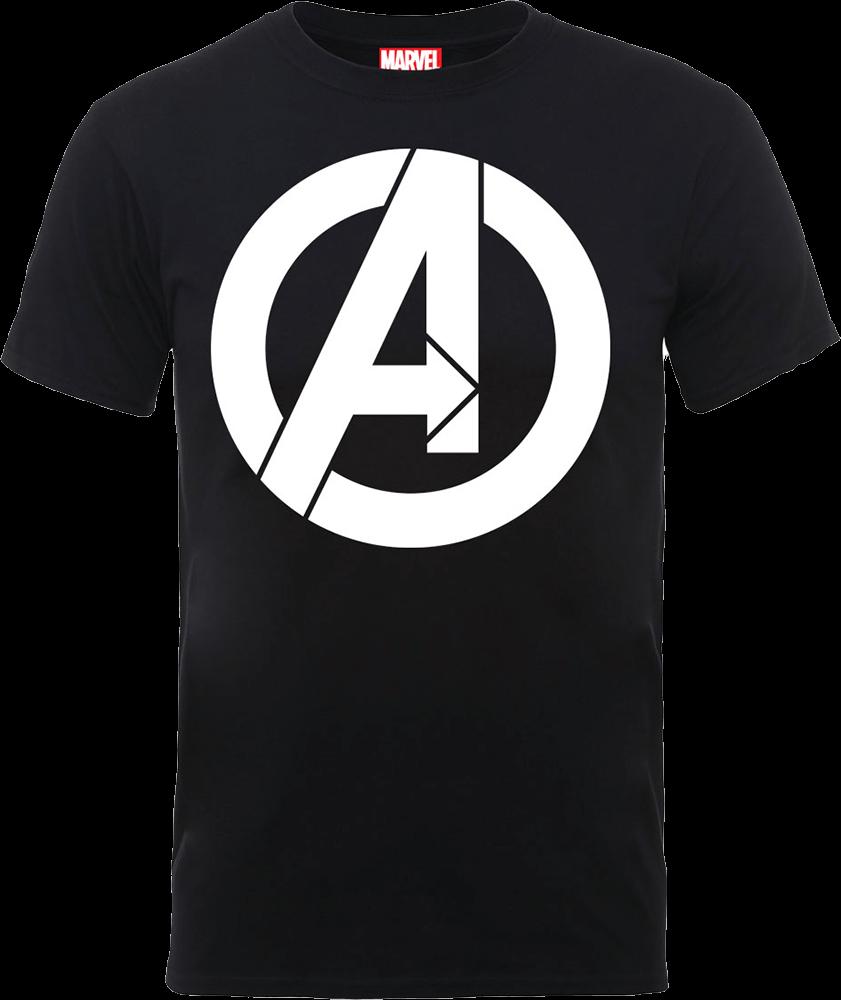 6df901ef0d Marvel Avengers Simple Logo T-Shirt - Black Clothing | Zavvi