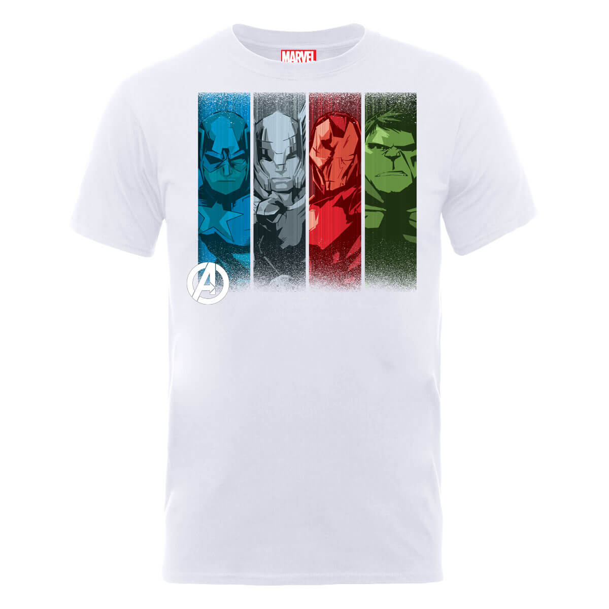 Marvel Avengers Assemble Team Poses T-Shirt - White