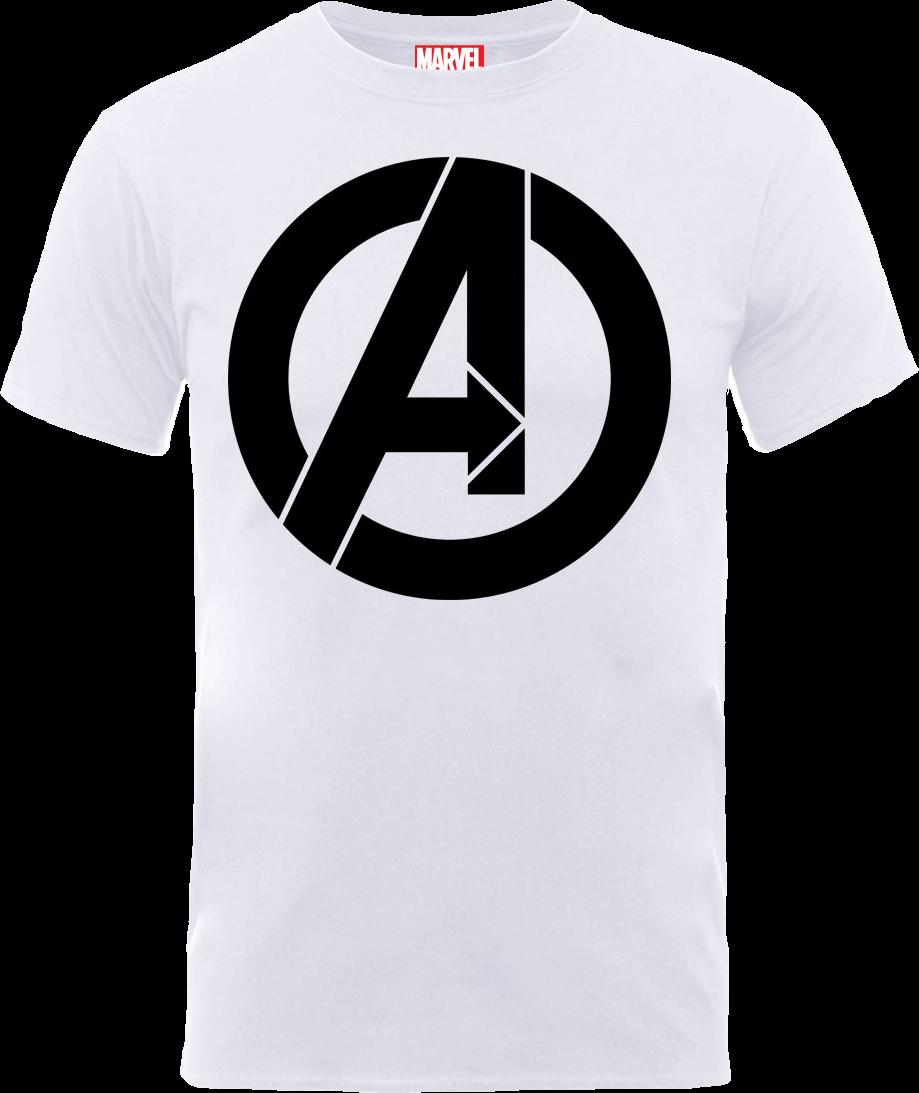 571244fbe5 Marvel Avengers Simple Logo T-Shirt - White Clothing | Zavvi