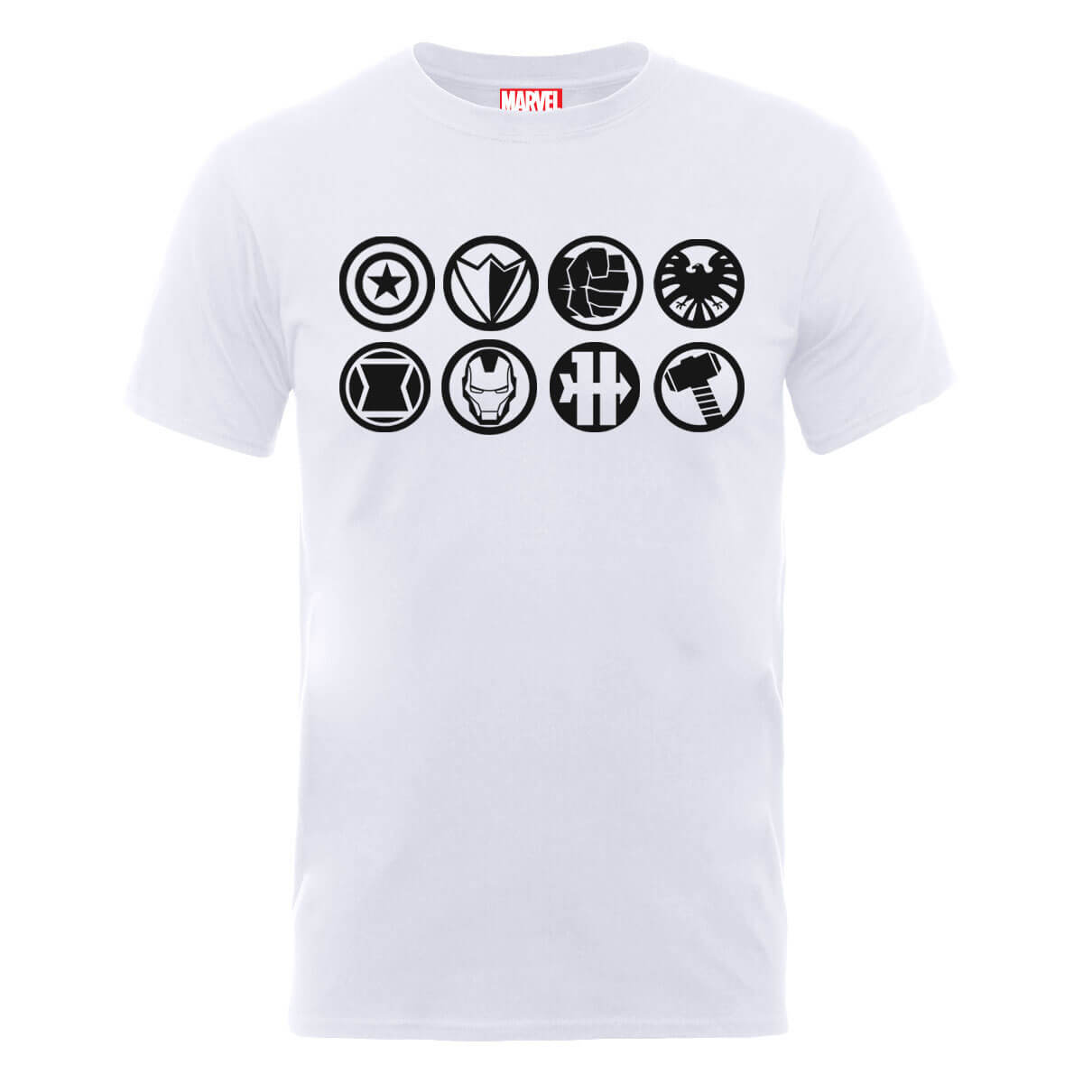 Marvel Avengers Assemble Team Icons T-Shirt - White
