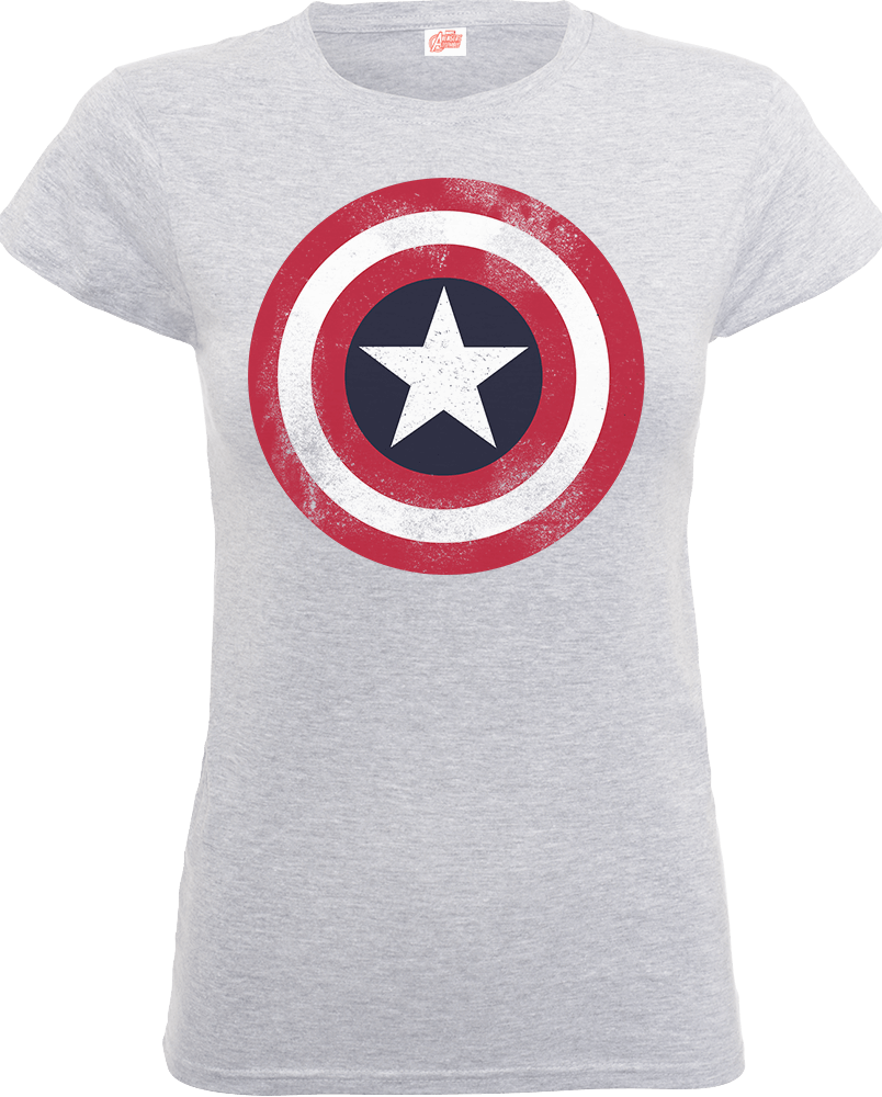 Marvel Avengers Assemble Captain America Distressed Shield Women