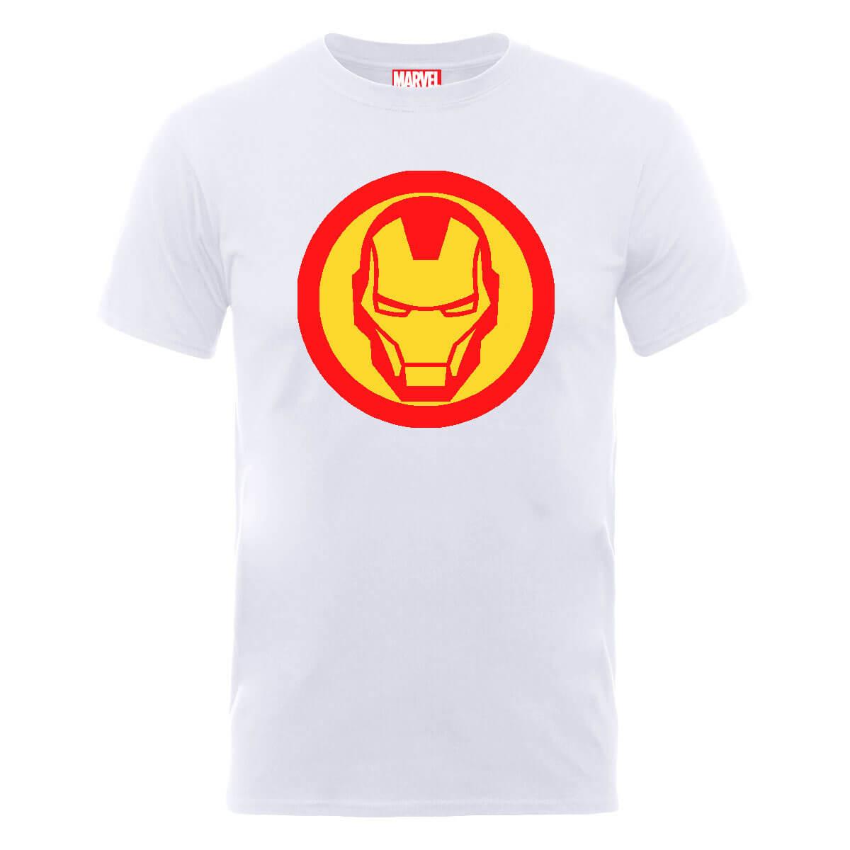 Camiseta Marvel Los Vengadores Símbolo Iron Man - Hombre - Blanco ... 58eff509ce65c
