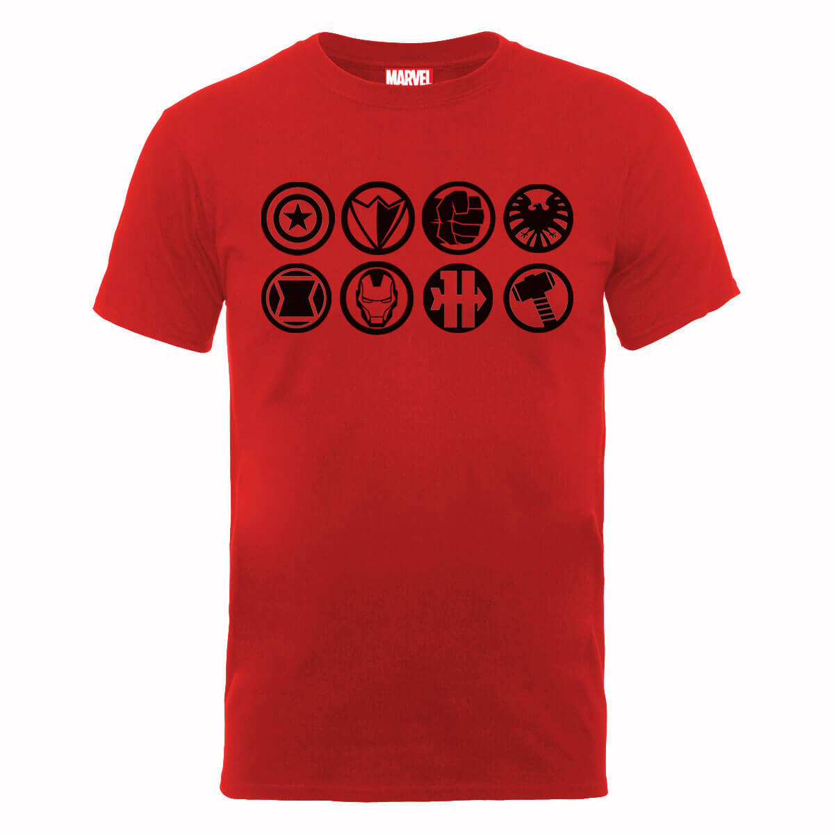 Marvel Avengers Assemble Team Icons T-Shirt - Red