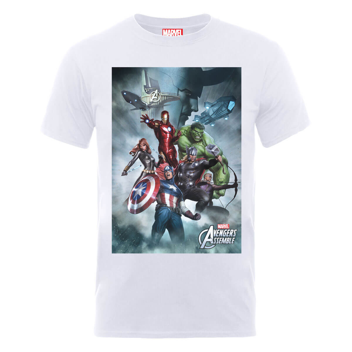 Marvel Avengers Team Montage T-Shirt - White