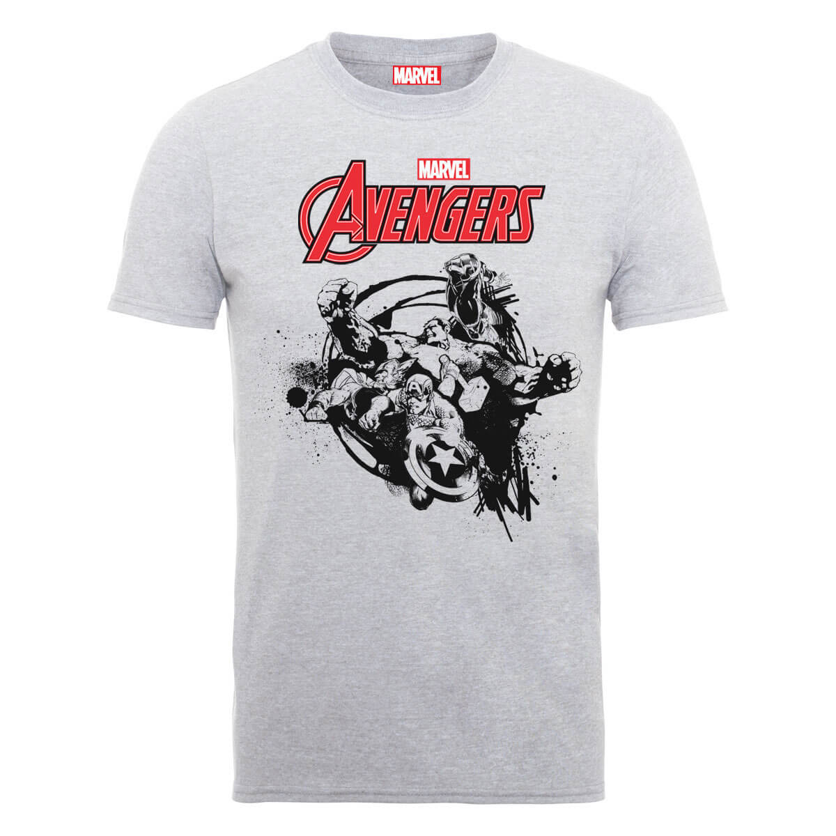 Marvel Avengers Team Burst T-Shirt - Grey