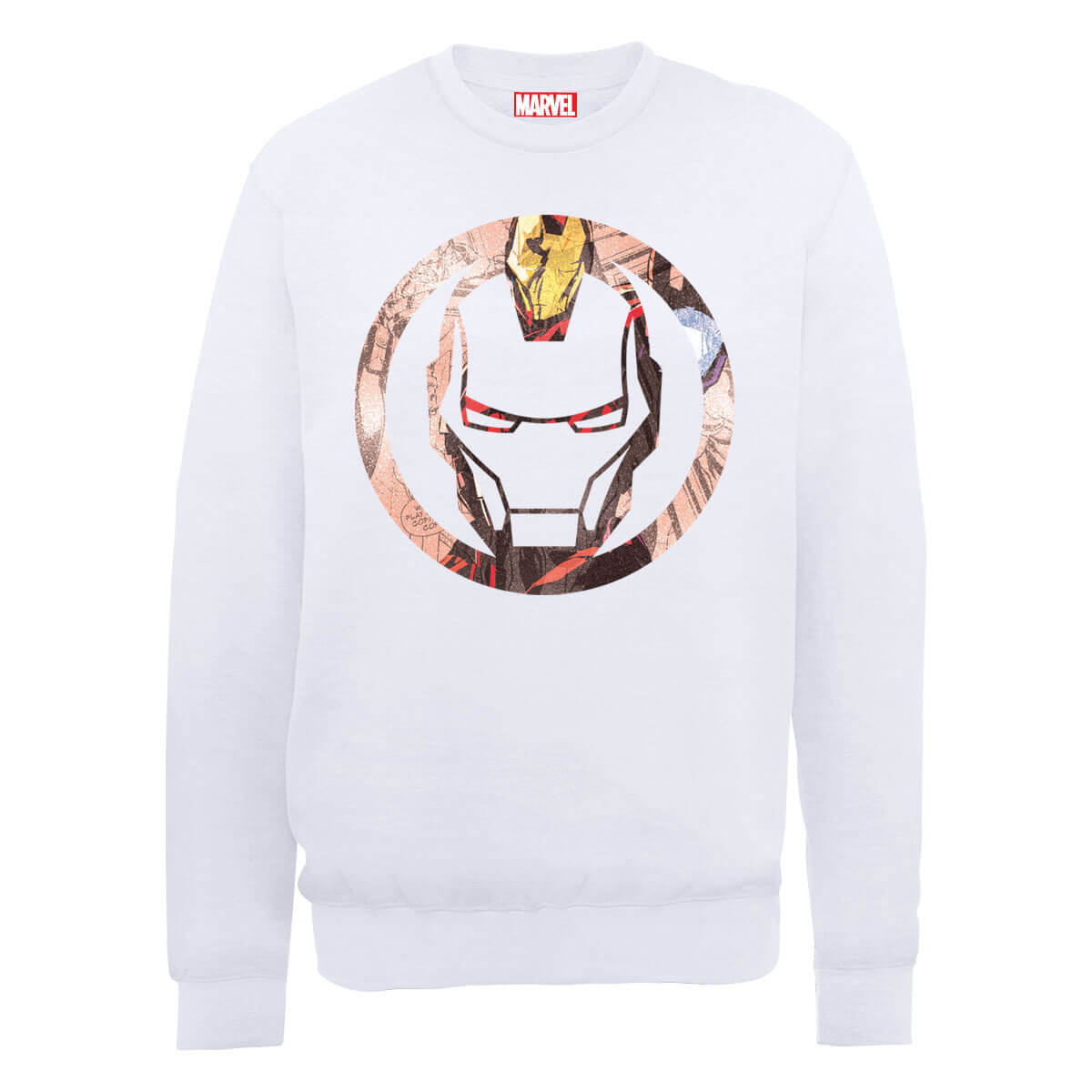 Marvel Avengers Assemble Iron Man Montage Sweatshirt - White