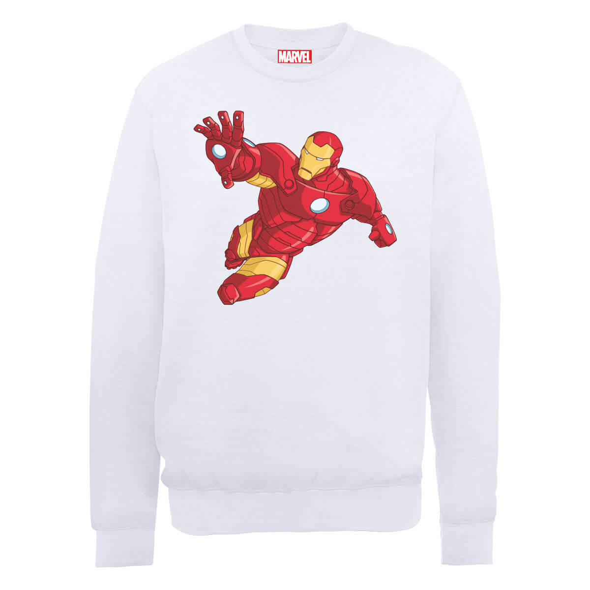 Marvel Avengers Assemble Iron Man Simple Sweatshirt - White