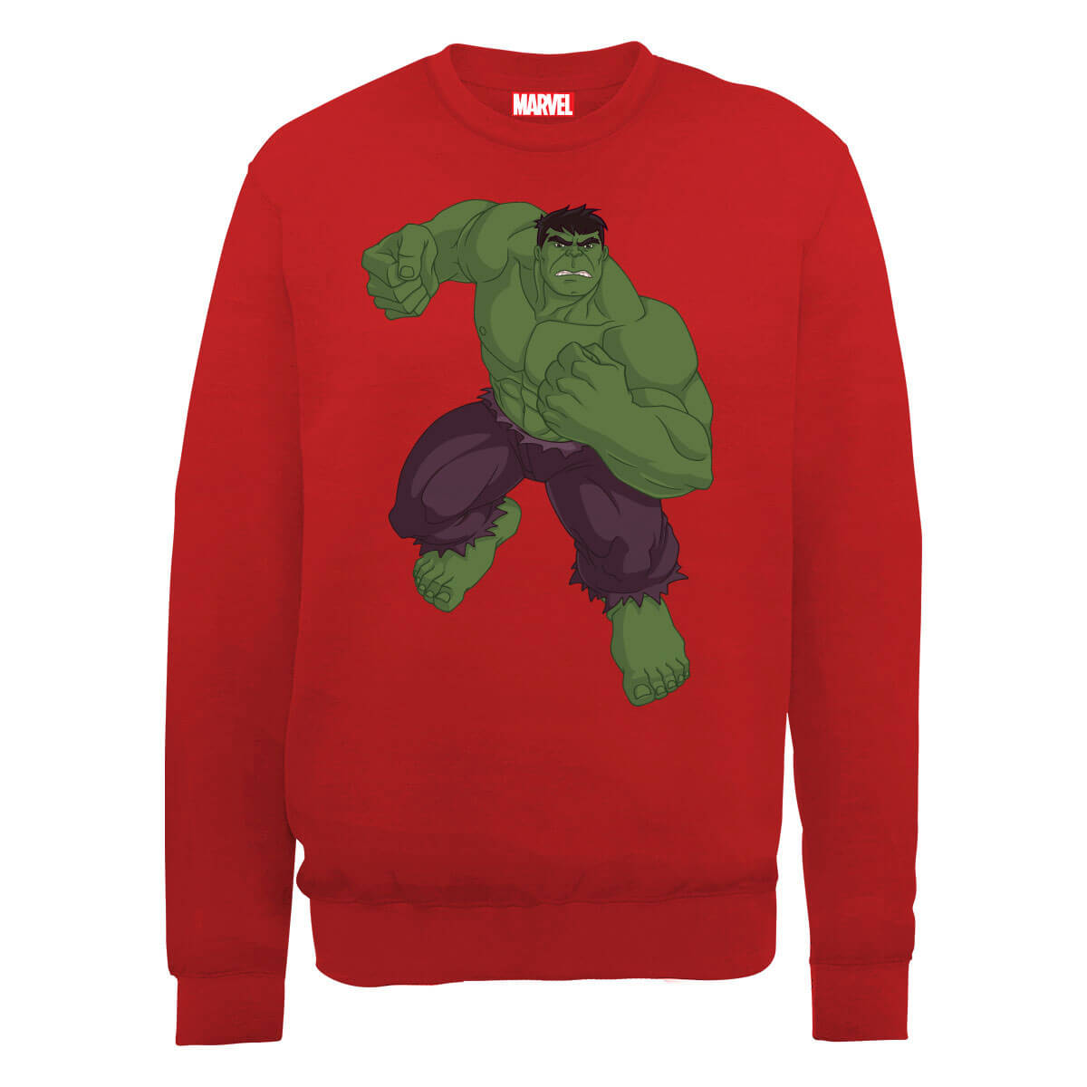 Marvel Avengers Assemble Hulk Pose Sweatshirt - Red