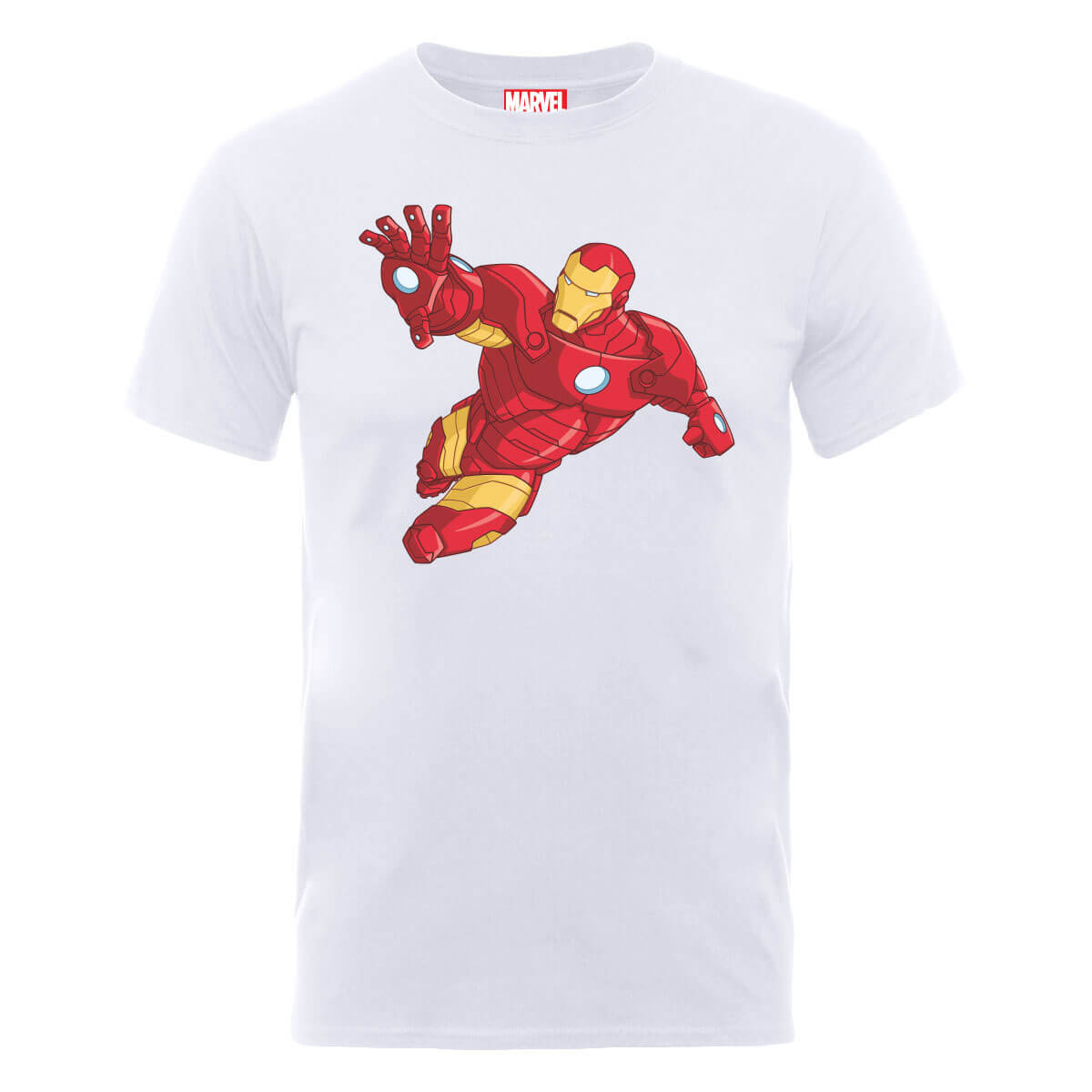 Marvel Avengers Assemble Armoured Iron Man T-Shirt - White
