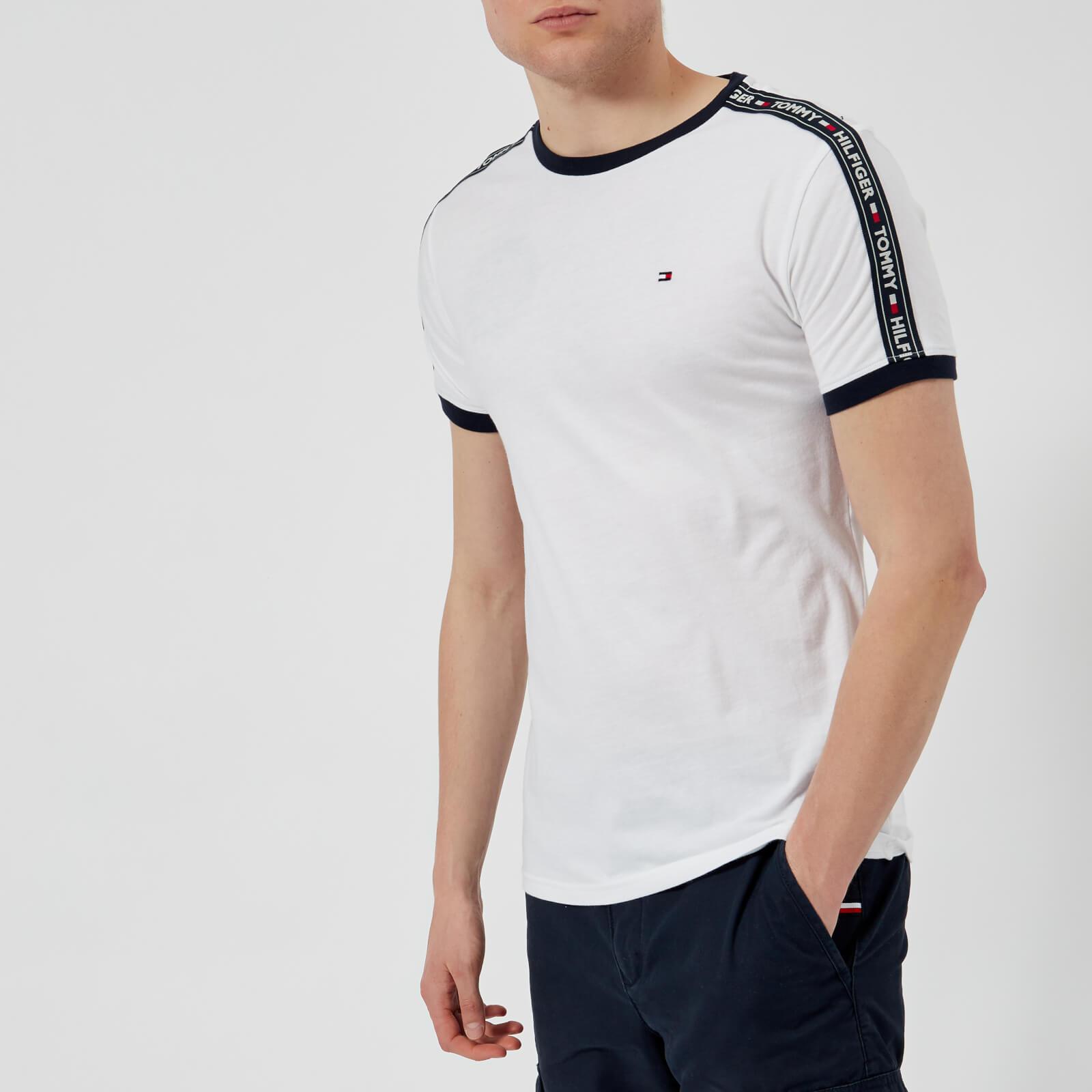 86991ff21 Tommy Hilfiger Men's Tape T-Shirt - White Clothing | TheHut.com