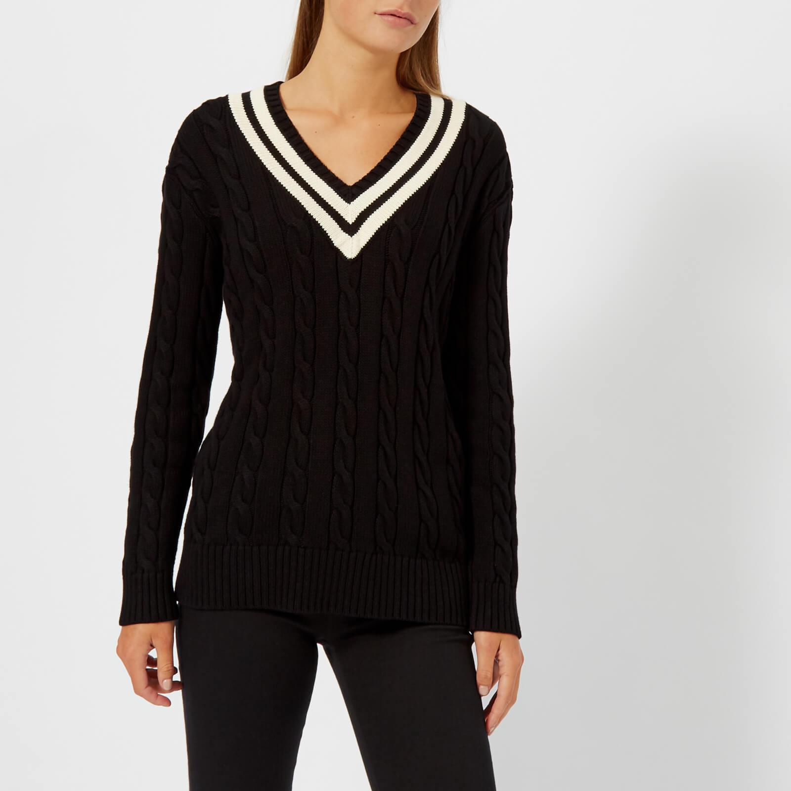 ef9c31174df Polo Ralph Lauren Women s Cricket Long Sleeve Sweatshirt - Black Cream - Free  UK Delivery over £50