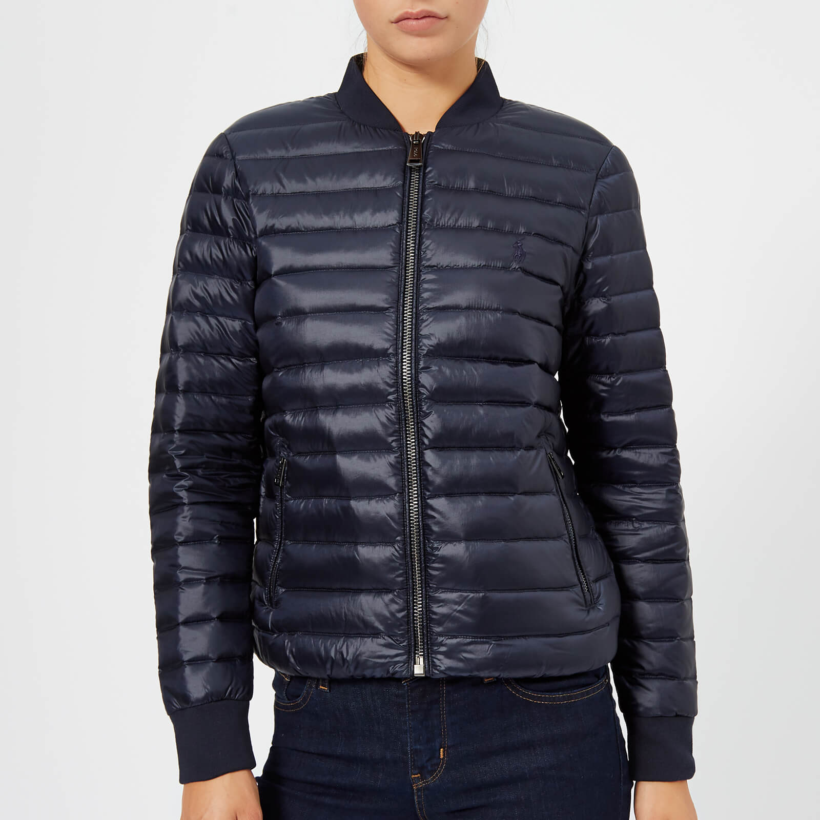 Ralph Fill Aviator Women's Down Navy Jacket Polo Lauren H2YW9IED
