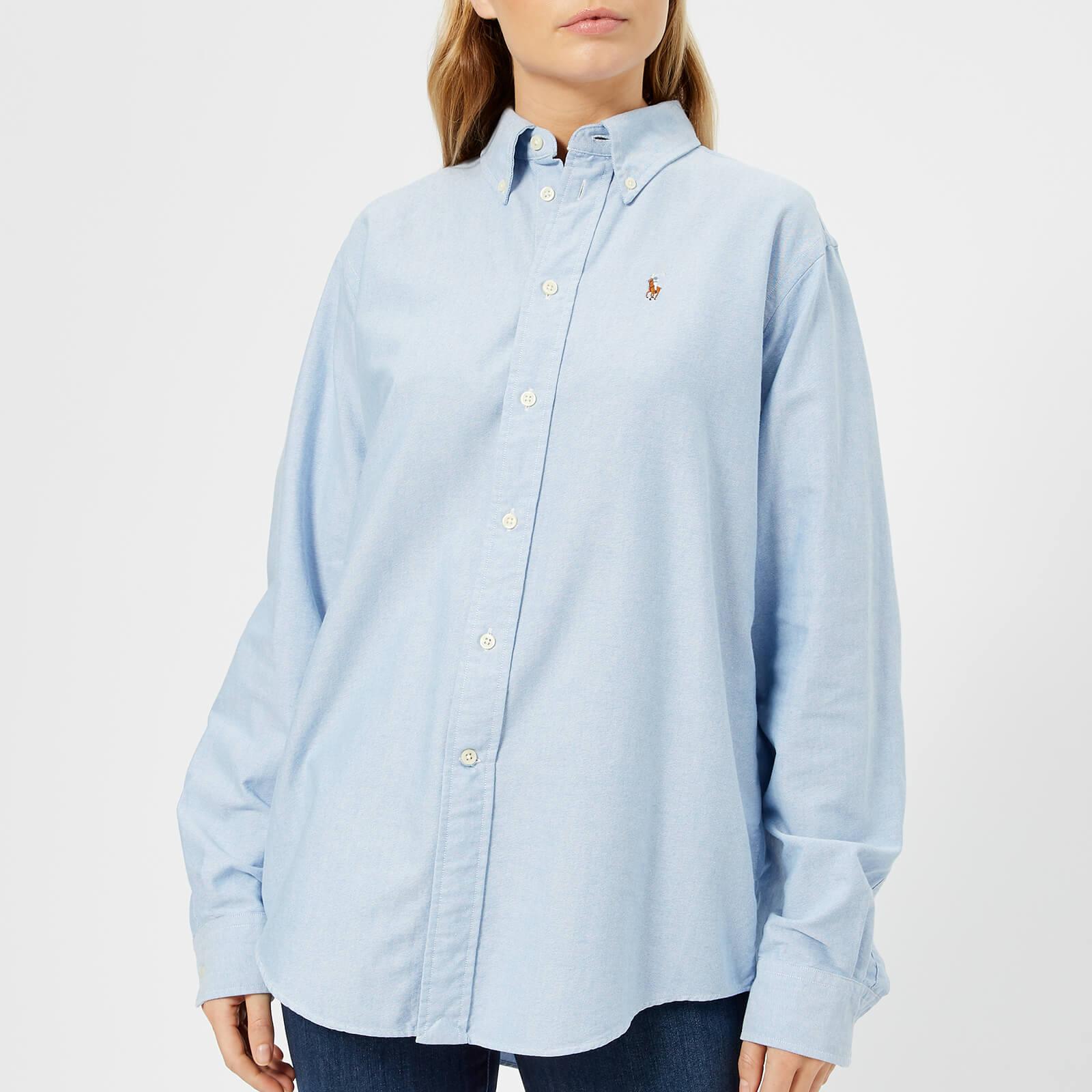 Lauren Oversized Shirt Polo Blue Women's Ralph v8Own0mN