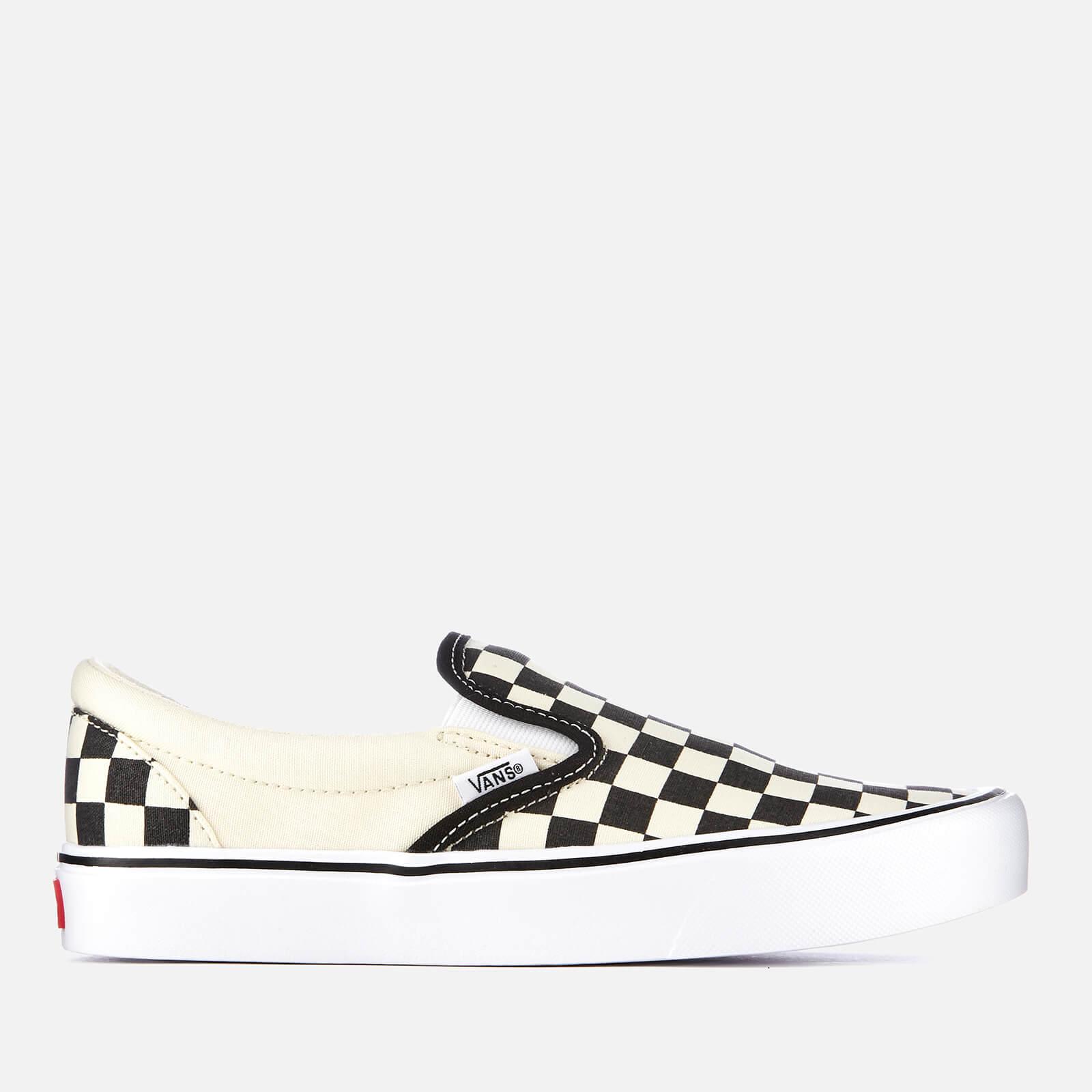 e0a2c446ec Vans Checkerboard Slip-On Lite Trainers - Black White Mens Footwear ...