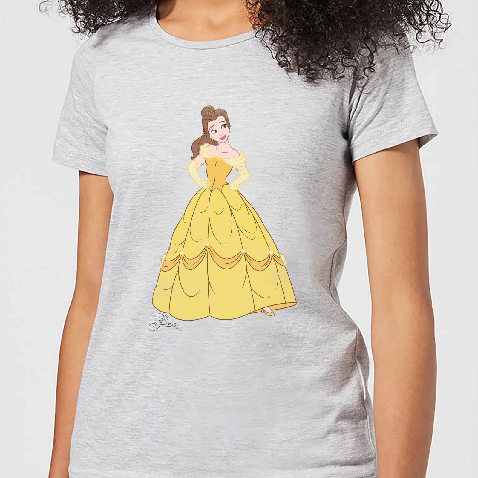 a80ed31d9 Disney Beauty And The Beast Princess Belle Classic Women's T-Shirt - Grey  Clothing | Zavvi Australia