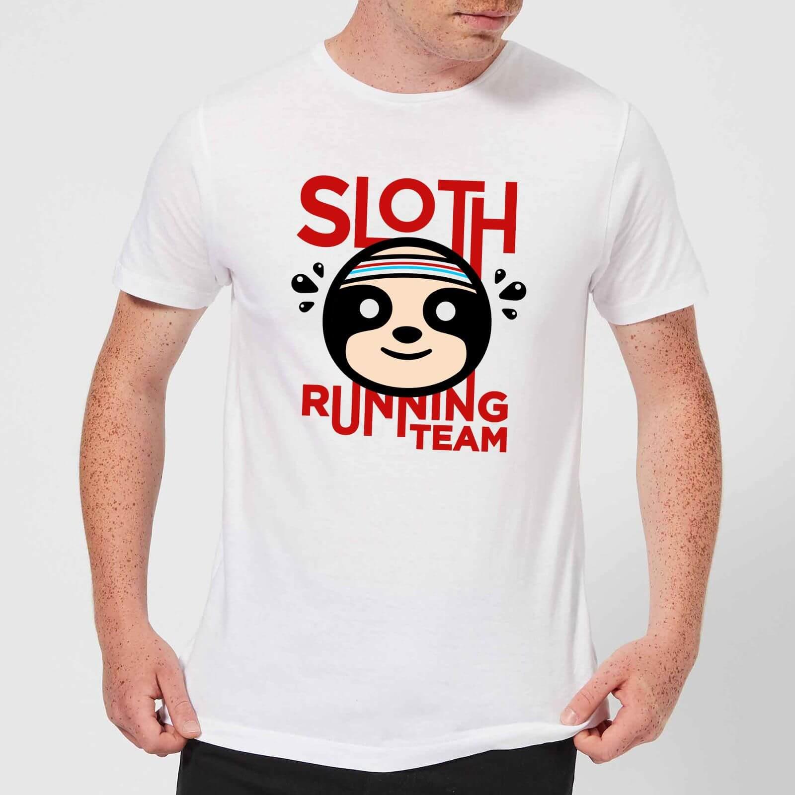 31544c963 Sloth Running Team T-Shirt - White | IWOOT
