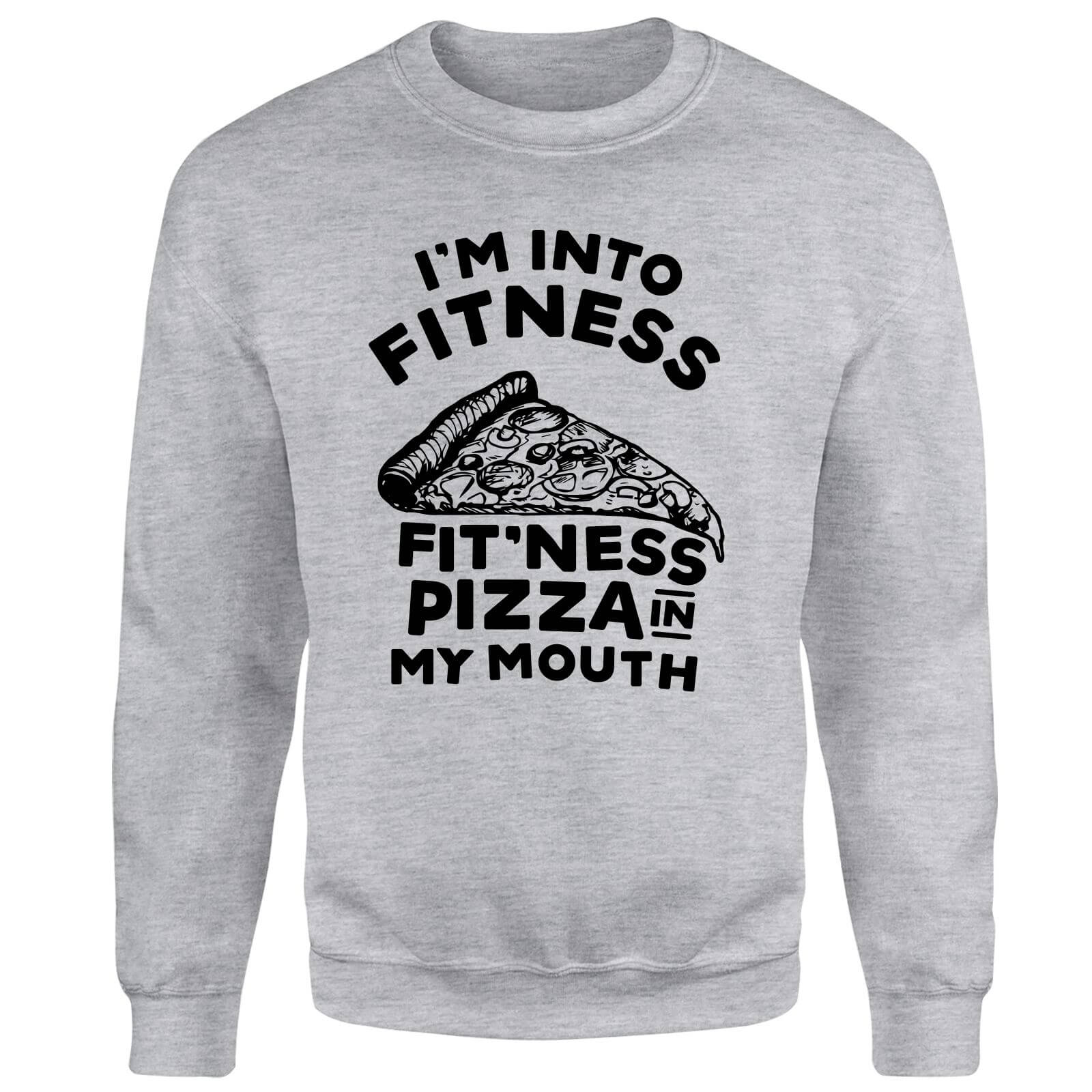 Fitness Pizza Sweatshirt - Grey