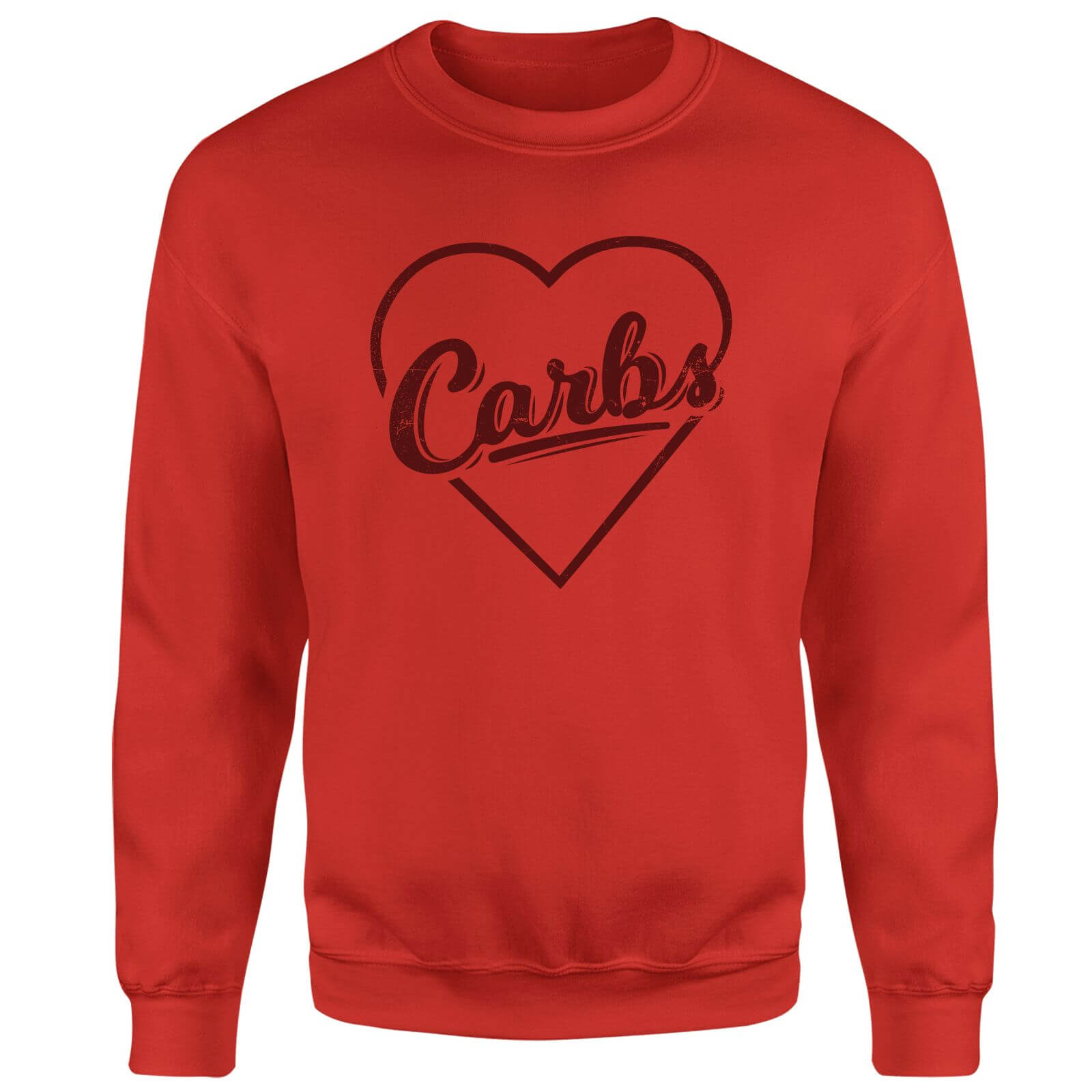 Love Carbs Sweatshirt - Red