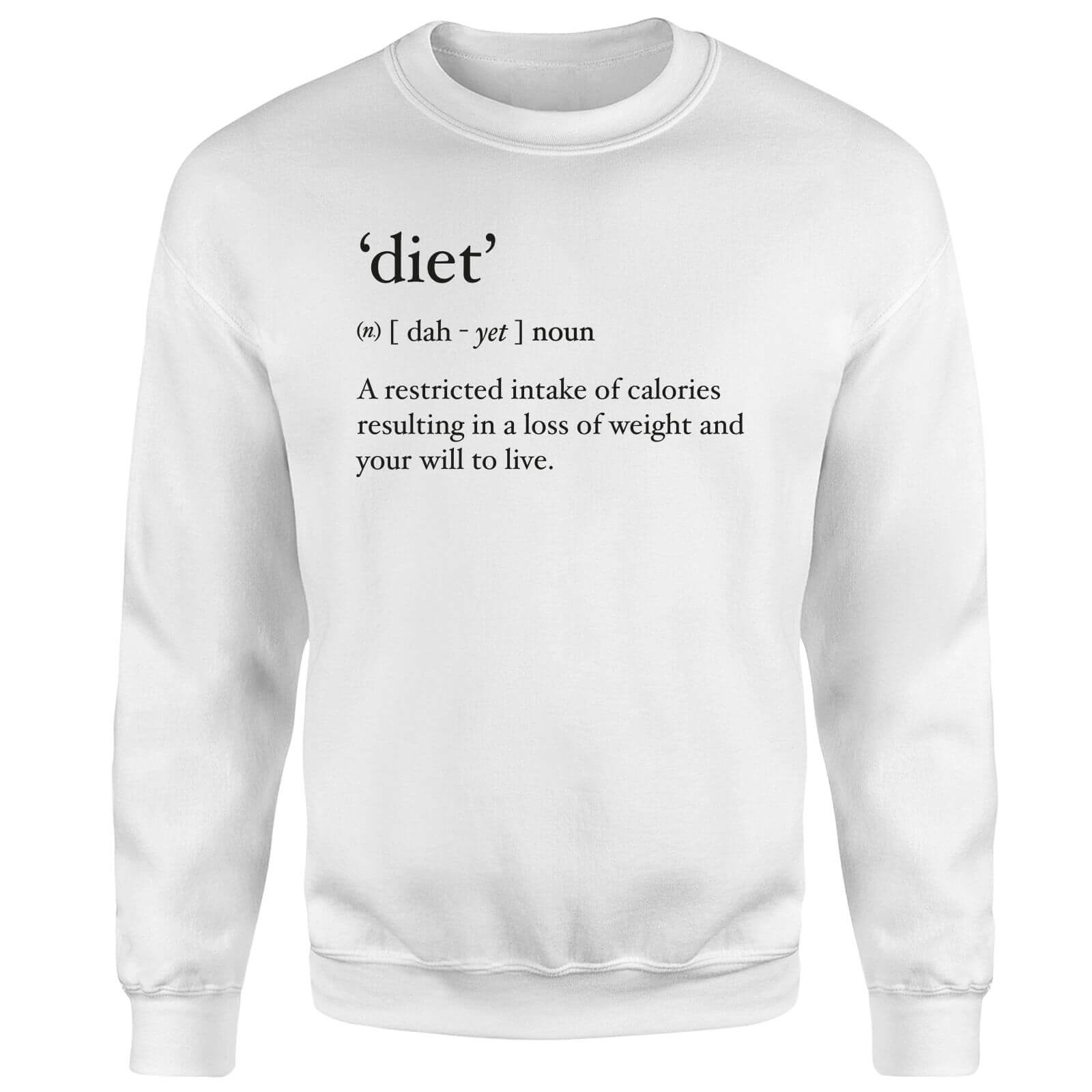 Dictionary Diet Sweatshirt - White