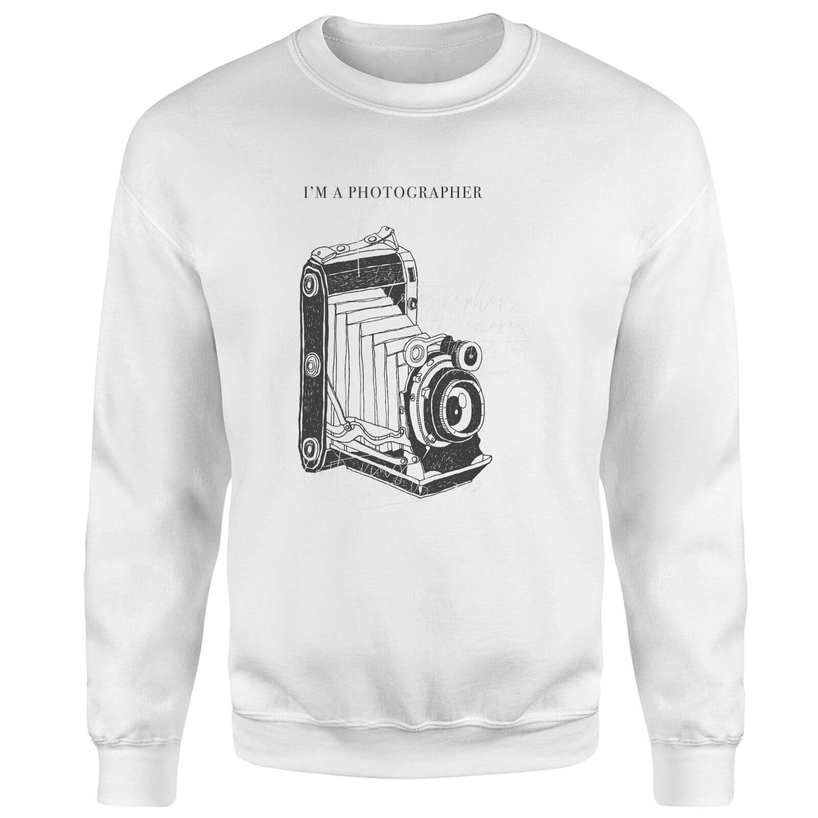 Photography Vintage Scribble Sweatshirt - White